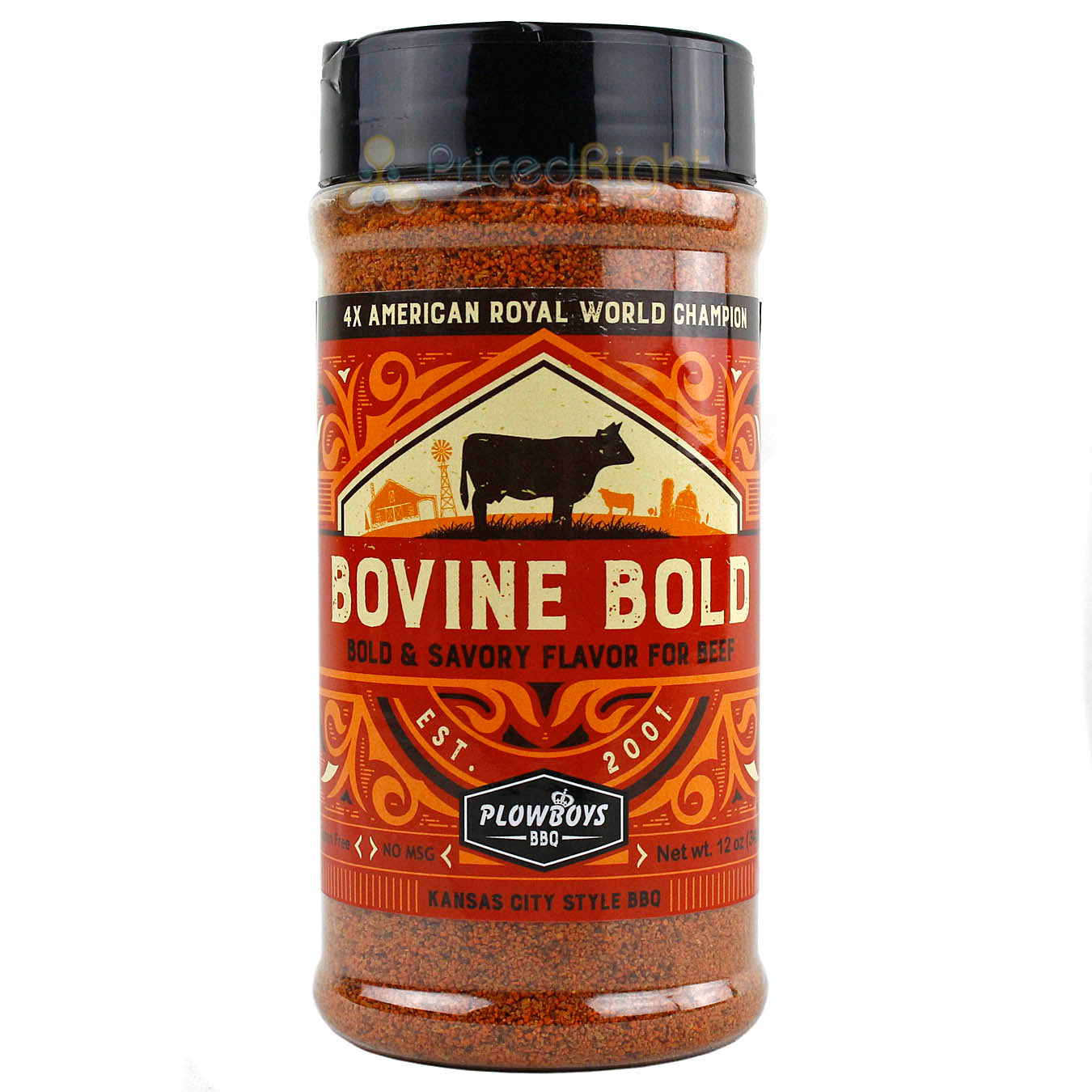 Plowboys BBQ Bovine Bold Seasoning Rub 12oz Award Winning Barbeque Meat Rub
