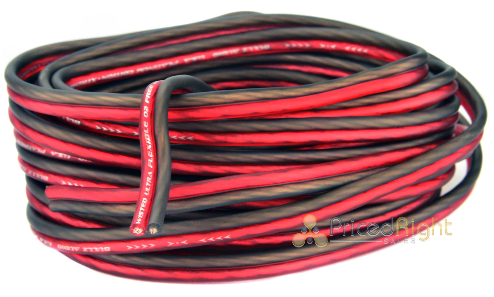 Bullz Car Audio Red 4 Gauge Pro AMP / Amplifier Power Wiring Kit BPE4R