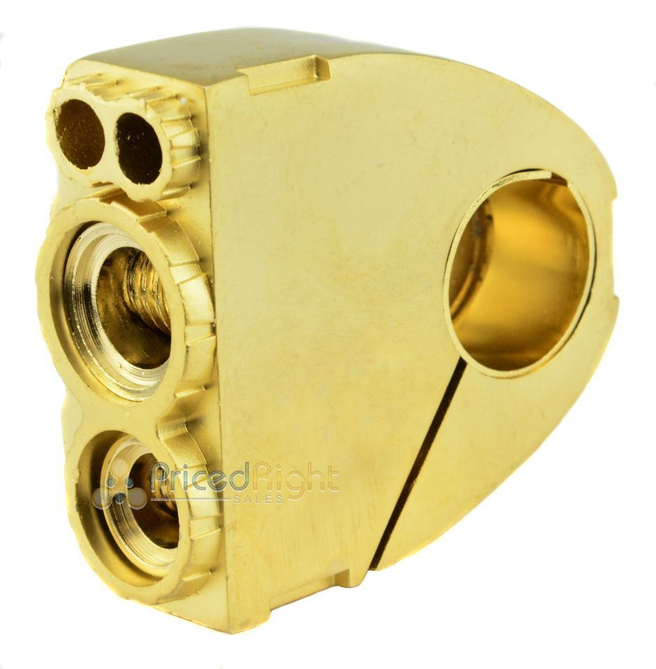 XScorpion Battery Terminal 0 2 4 8 Gauge Out AWG Stereo High Power Gold Plated
