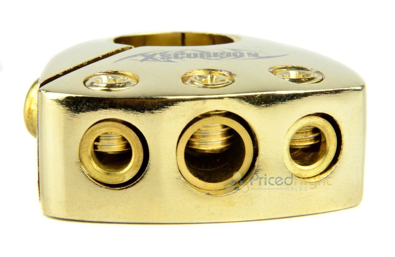 Gold Plated Battery Terminal Multi Output Car Stereo 2 4 8 Gauge AWG Quality