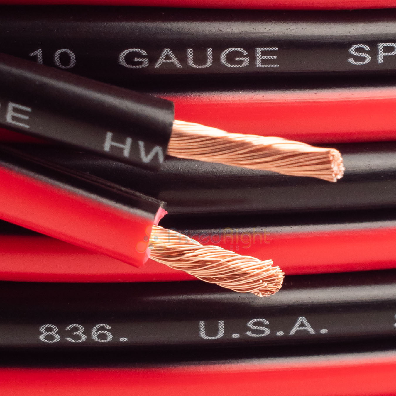5 FT 10 Gauge Speaker Car / Home Audio Cable AWG 5' Black & Red Zip Wire