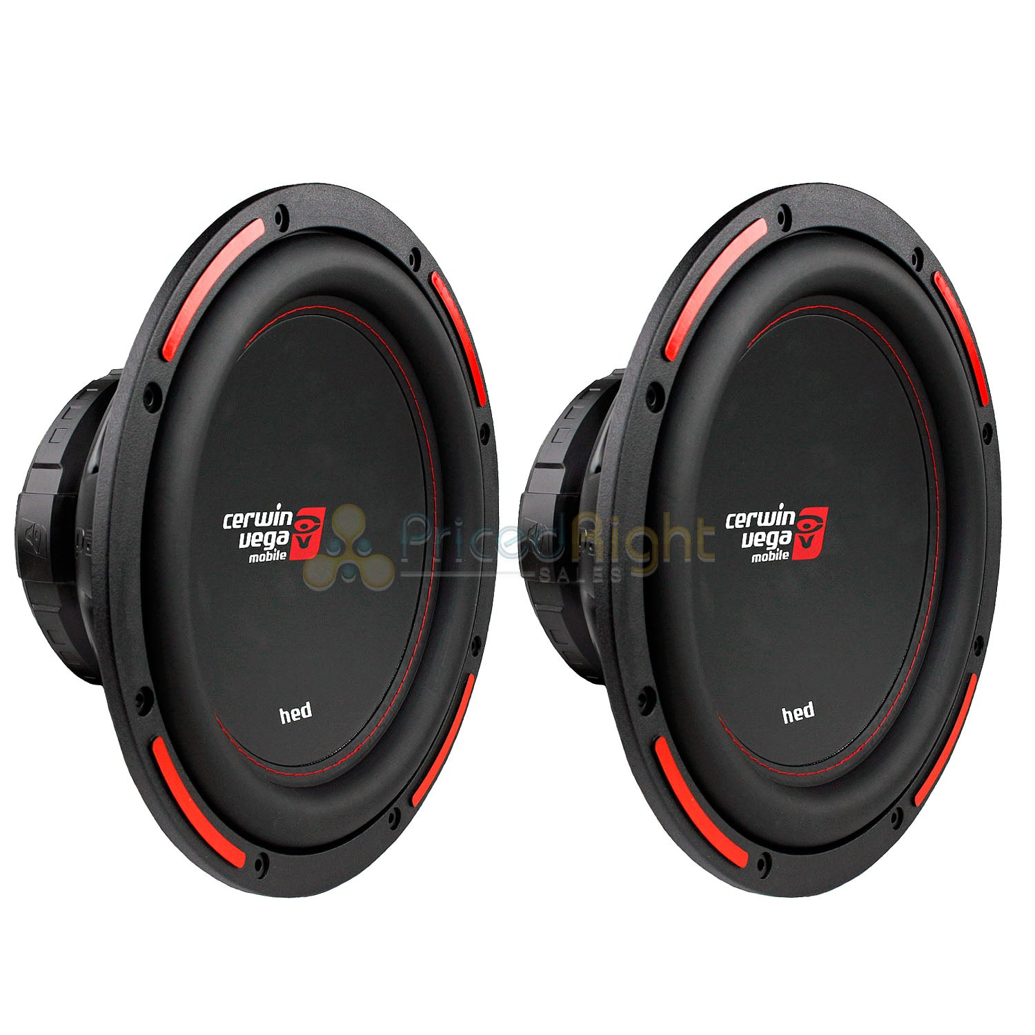 "2 Pack 12"" Dual 4 Ohm Subwoofers 1400W Max HED Series Cerwin Vega CER-H7124D Set"