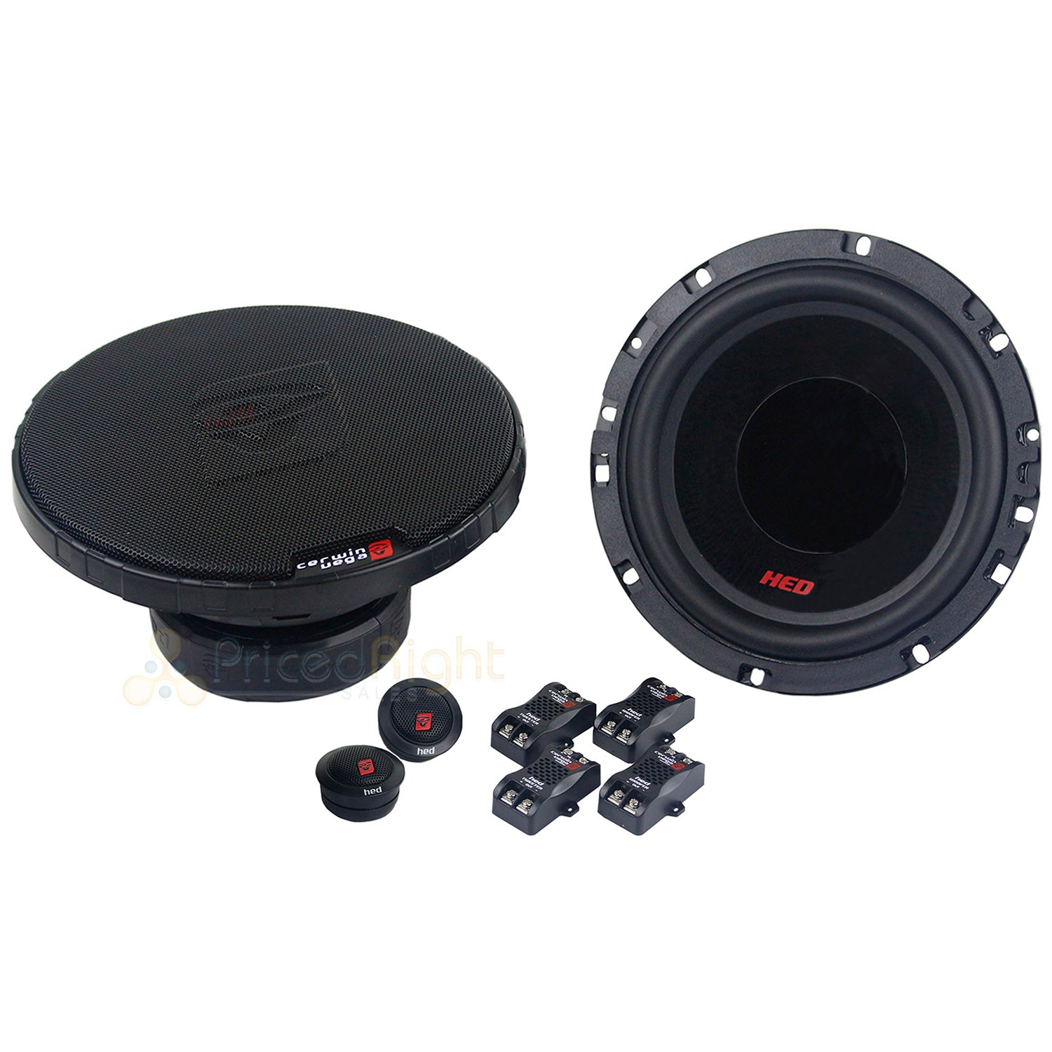 "4 Speaker Cerwin Vega 2-Way Component 6.5"" Speaker Systems with Tweeters H765C"