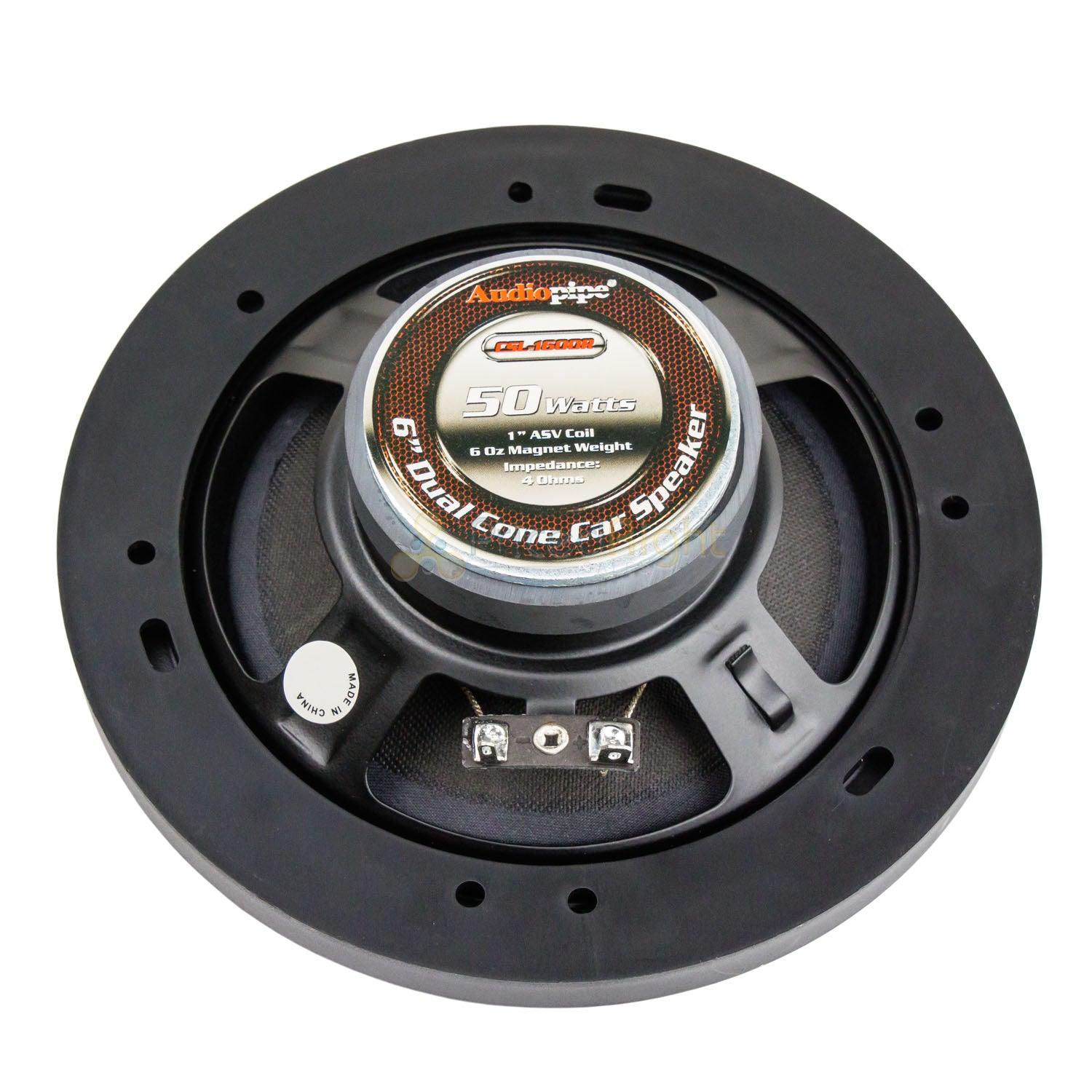 "Audiopipe 6"" Dual Cone Speakers Pair Slim 50W 4 Ohm 1"" Voice Coil CSL-1600R"