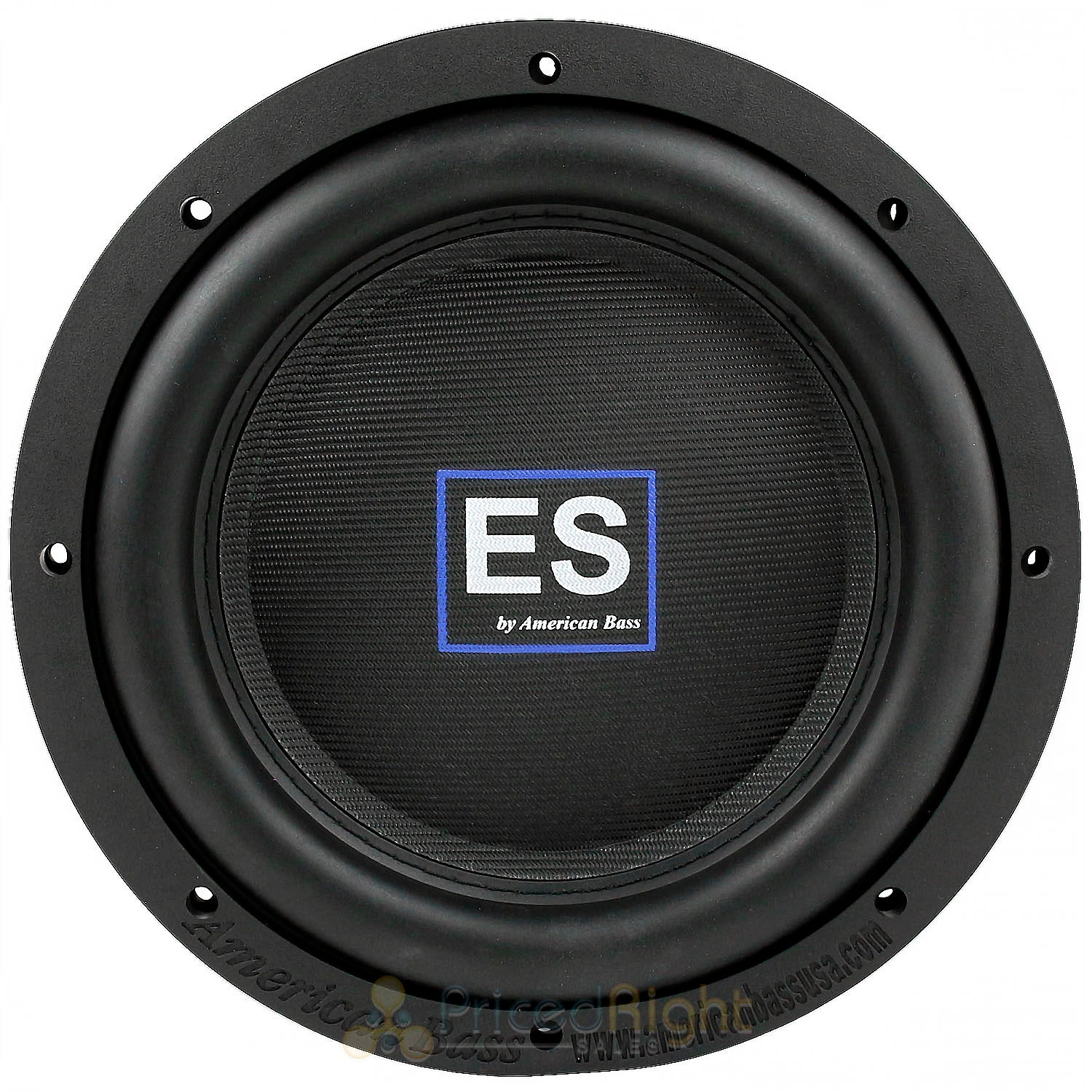 "2 Pack American Bass 10"" Slim Subwoofer 1000W Max DVC 4 Ohm Car Audio ES-1044"