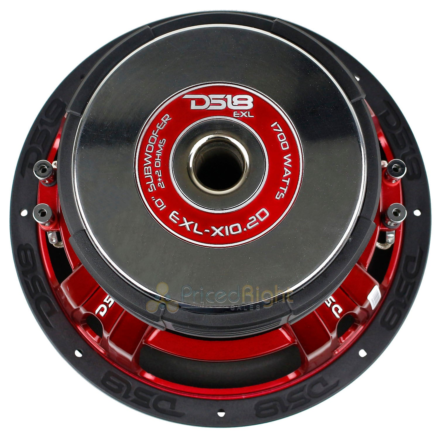 "2 Pack EXL-X10.2D 10"" Subwoofers Dual 2 Ohm 1700 Watts Max Bass Sub Car DS18"