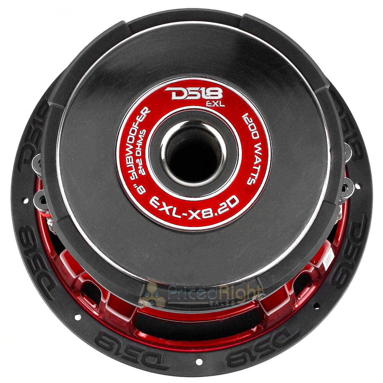 "2 Pack EXL-X8.2D 8"" Subwoofers Dual 2 Ohm 1200 Watts Max Bass Sub Car DS18"