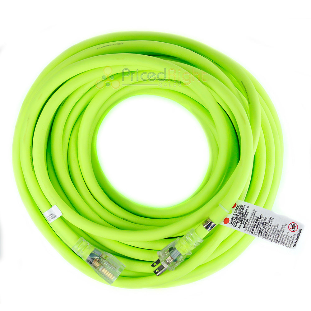 100 ft Flexzilla Pro Electric Extension Cord Power Cable Indoor Outdoor 10 gauge