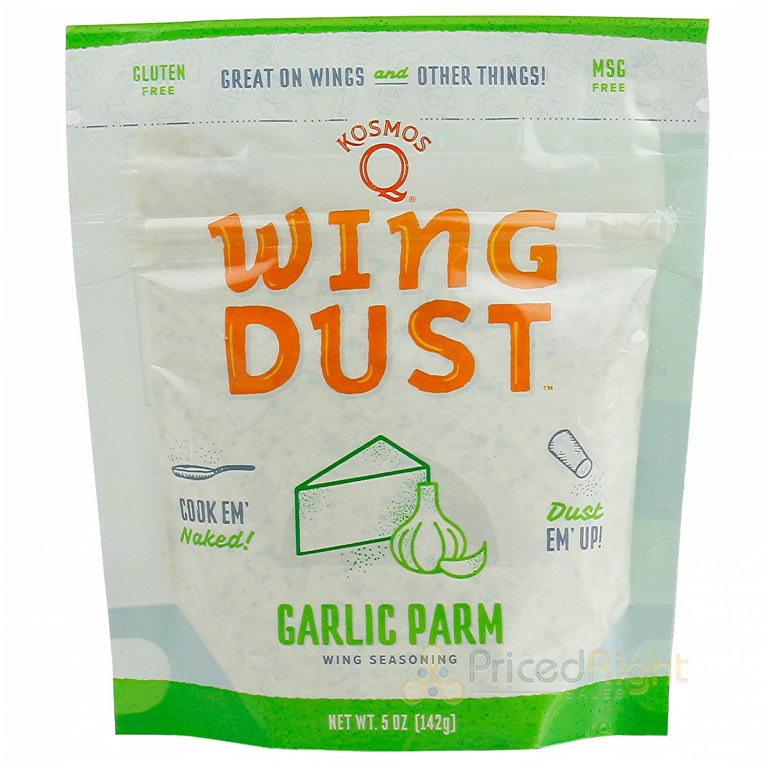 Kosmos Q Wing Dust Garlic Parm Wing Dusting Seasoning Competition Pit Master 5oz