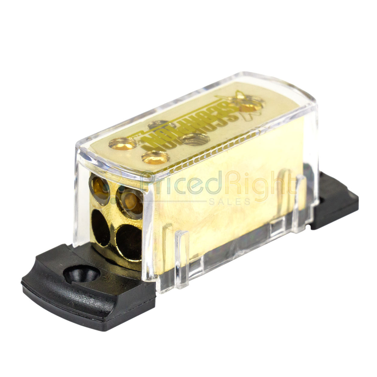 4 8 Gauge Power Gold Distribution Block Car Audio Wiring 1 to 4  Amp GDB1248G