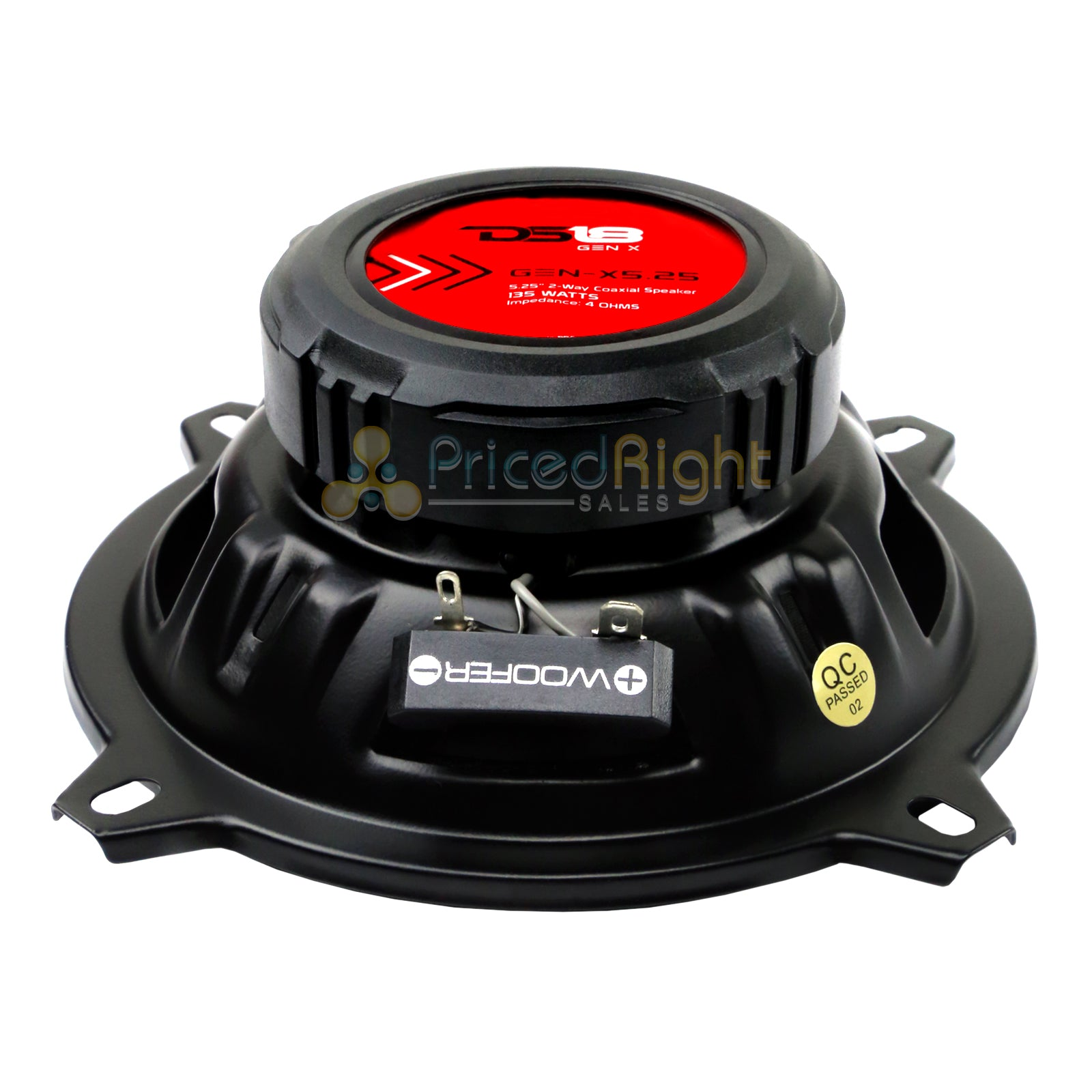 "DS18 5.25"" 135 Watts Max Power 2 Way Coaxial Speaker 4 Ohm GEN-X5.25 Set of 2"