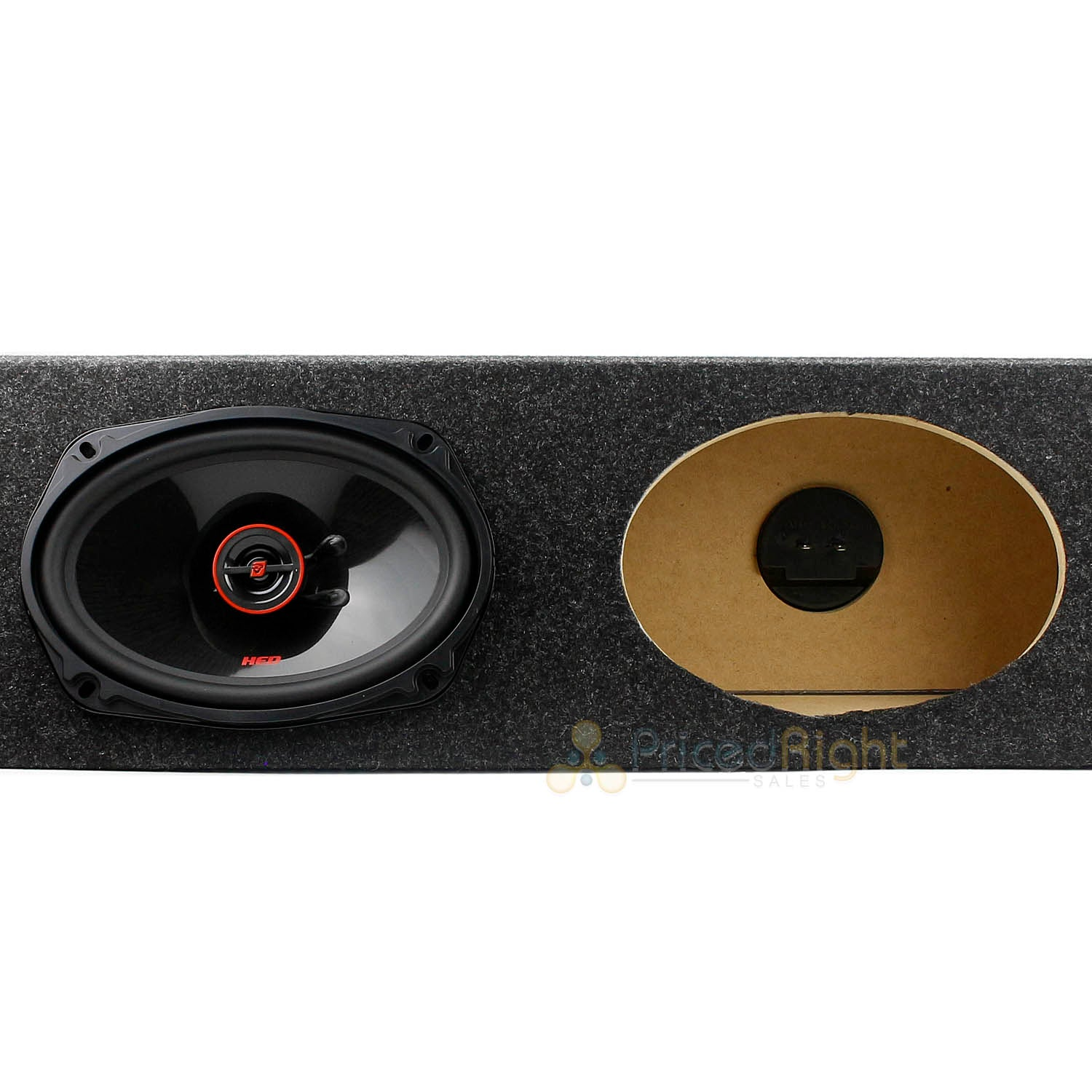 "Cerwin Vega 6x9"" 2-Way Coaxial Car Speakers with 4 Four Hole Box Enclosure H7692"