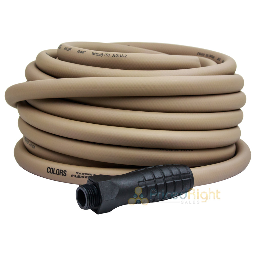 "5/8"" x 50' Water Garden Hose With Swivel Grips Brown HFZC550BRS Flexzilla Legacy"