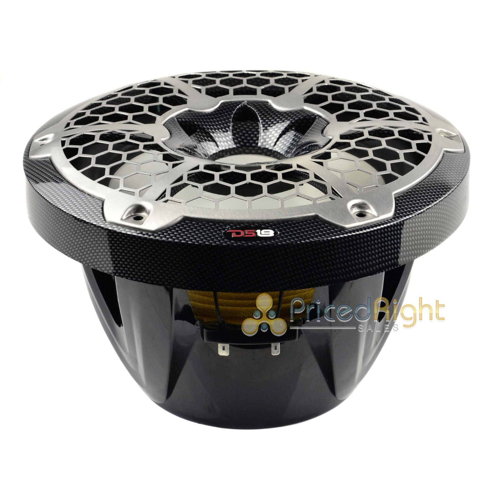 "10"" Marine Grade Subwoofer Sub 600 Watts Max Power DS18 CF10SUB RGB LED Lighting"