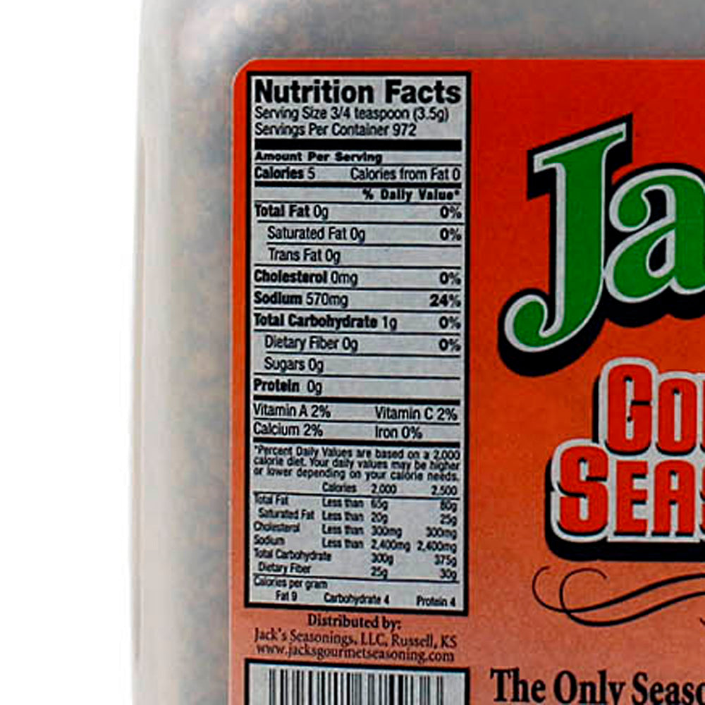 Jack's Seasoning 7.5lb Gourmet Special Blend Spices BBQ Rub Large Container