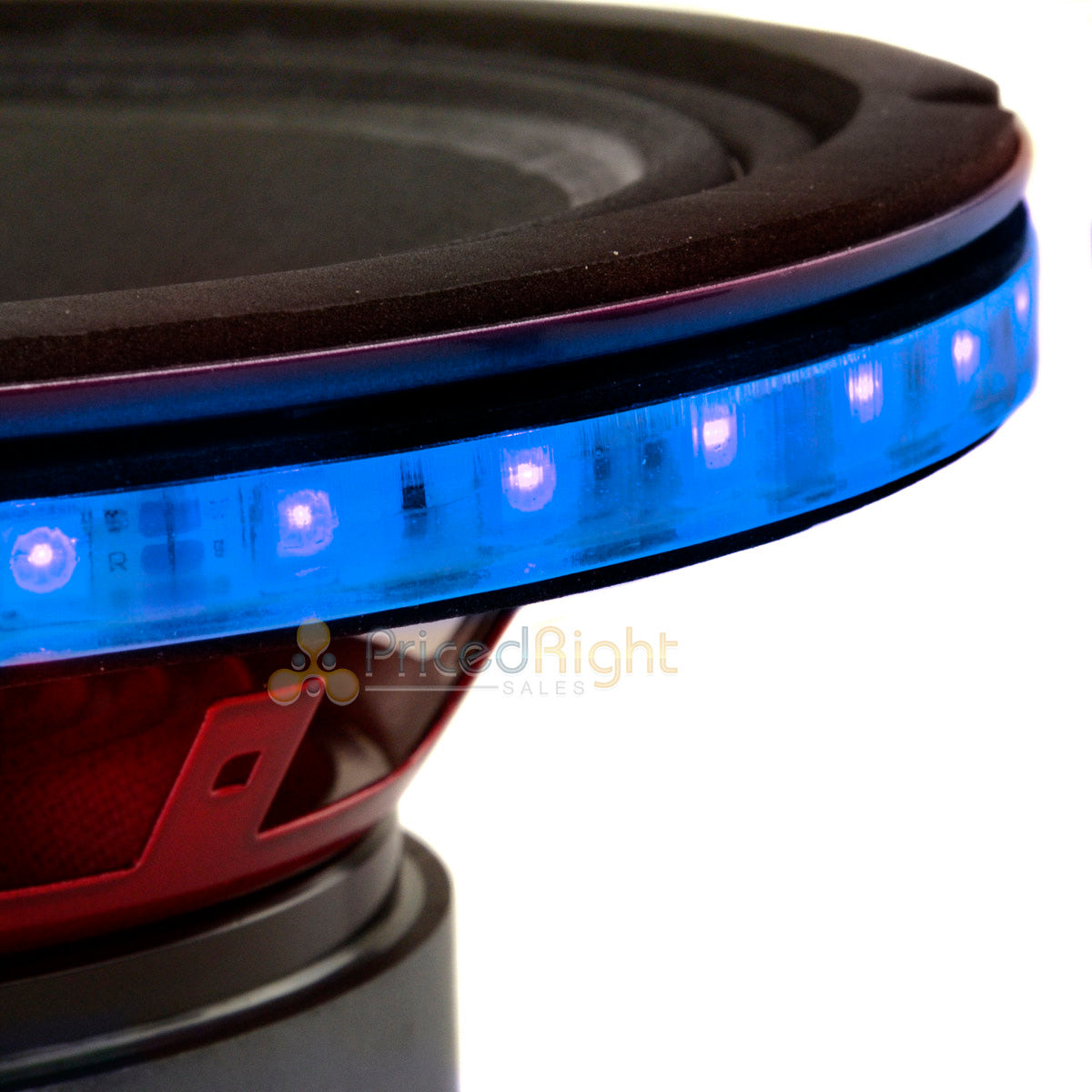 "4 Pack DS18 8"" Speaker Ring .5"" Spacer RGB LED 1/2"" Waterproof LRING8 Accent"