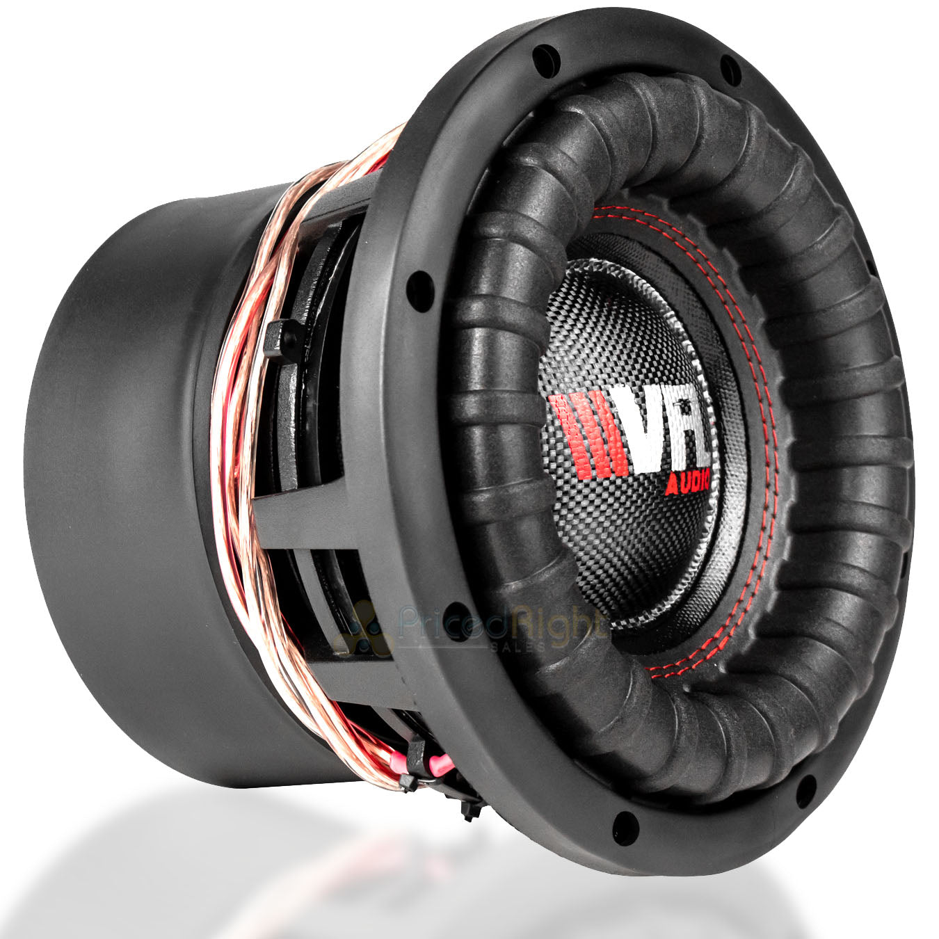 "2 Pack American Bass 8"" Competition Subwoofers Dual 4 Ohm 1200W Max Sub VFL-8D4"