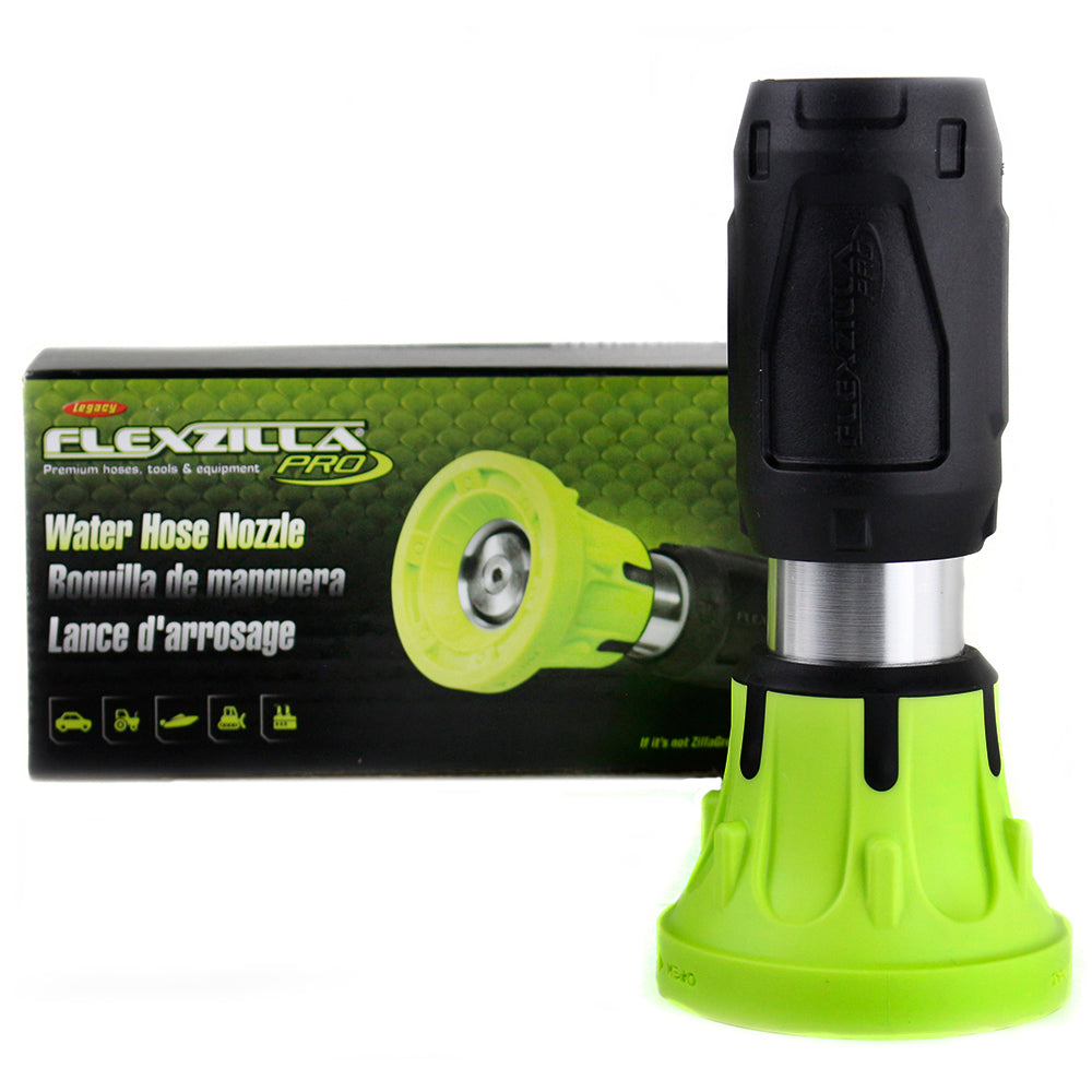 "Flexzilla Precision Flow Port Water Hose Nozzle 1/2 5/8 and 3/4"" hose NFZG01-N"