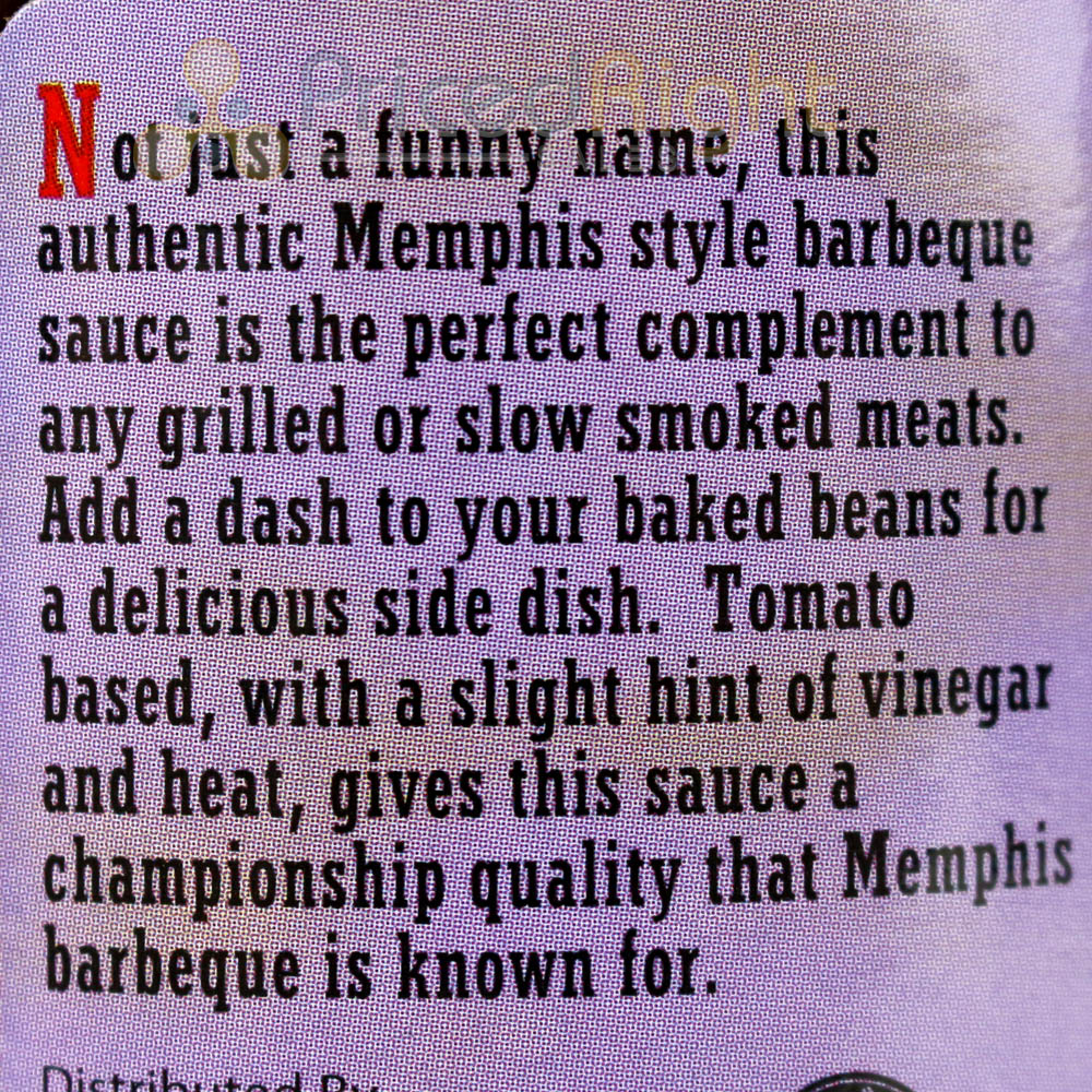 Pigs Ass Memphis Style Barbecue Sauce 18 Oz Competition Rated BBQ Recipe