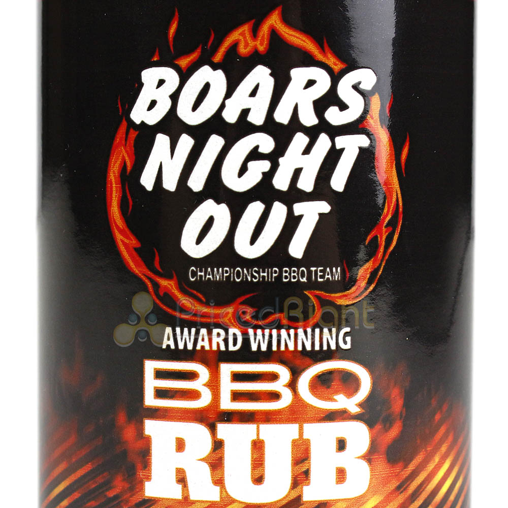 Boars Night Out Barbecue Dry Rub 10.5 Oz. Bottle Competition Rated Seasoning