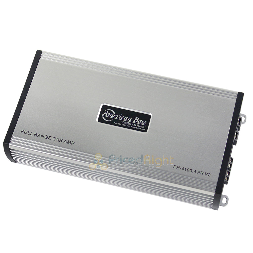 American Bass Full Range 4 Channel Class AB Hybrid Car Amplifier 800 Watts Max
