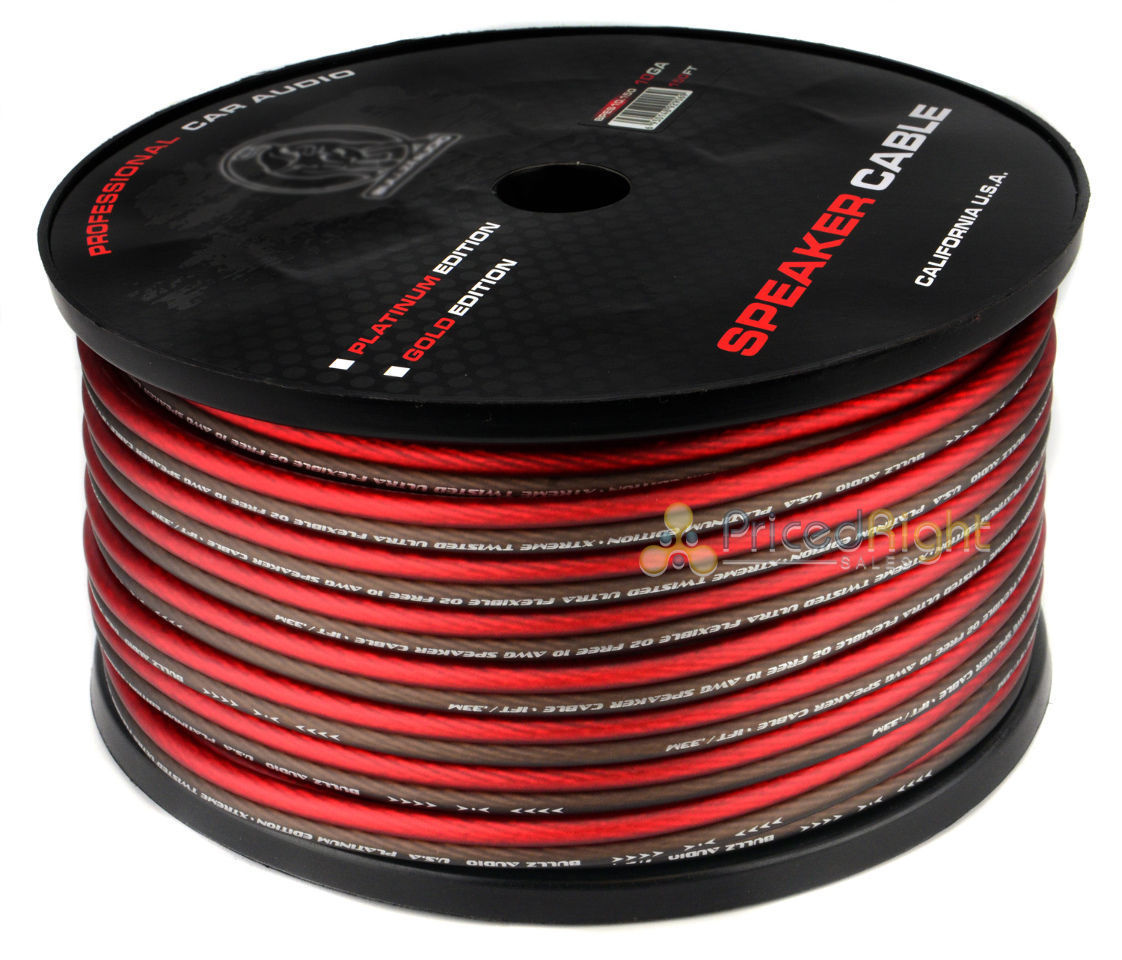 150 FT 10 Gauge Professional Gauge Speaker Wire Zip Cable Car Home Audio AWG