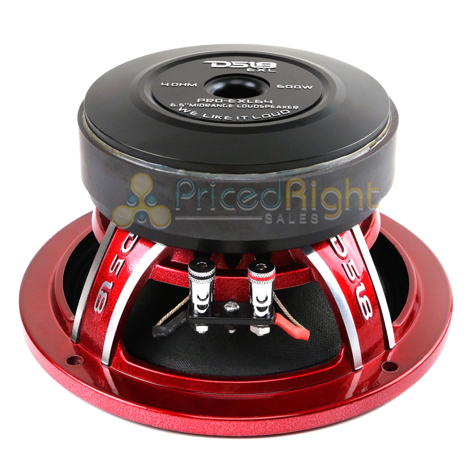 "4 DS18 PRO-EXL64 6.5"" Midrange Loudspeaker 600 Watts Max Power 4 Ohm Competition"