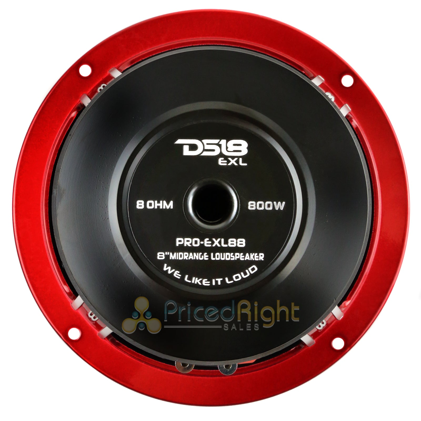 "DS18 PRO-EXL88 8"" Midrange Loudspeaker 800 Watts Max Power 8 Ohm Competition"