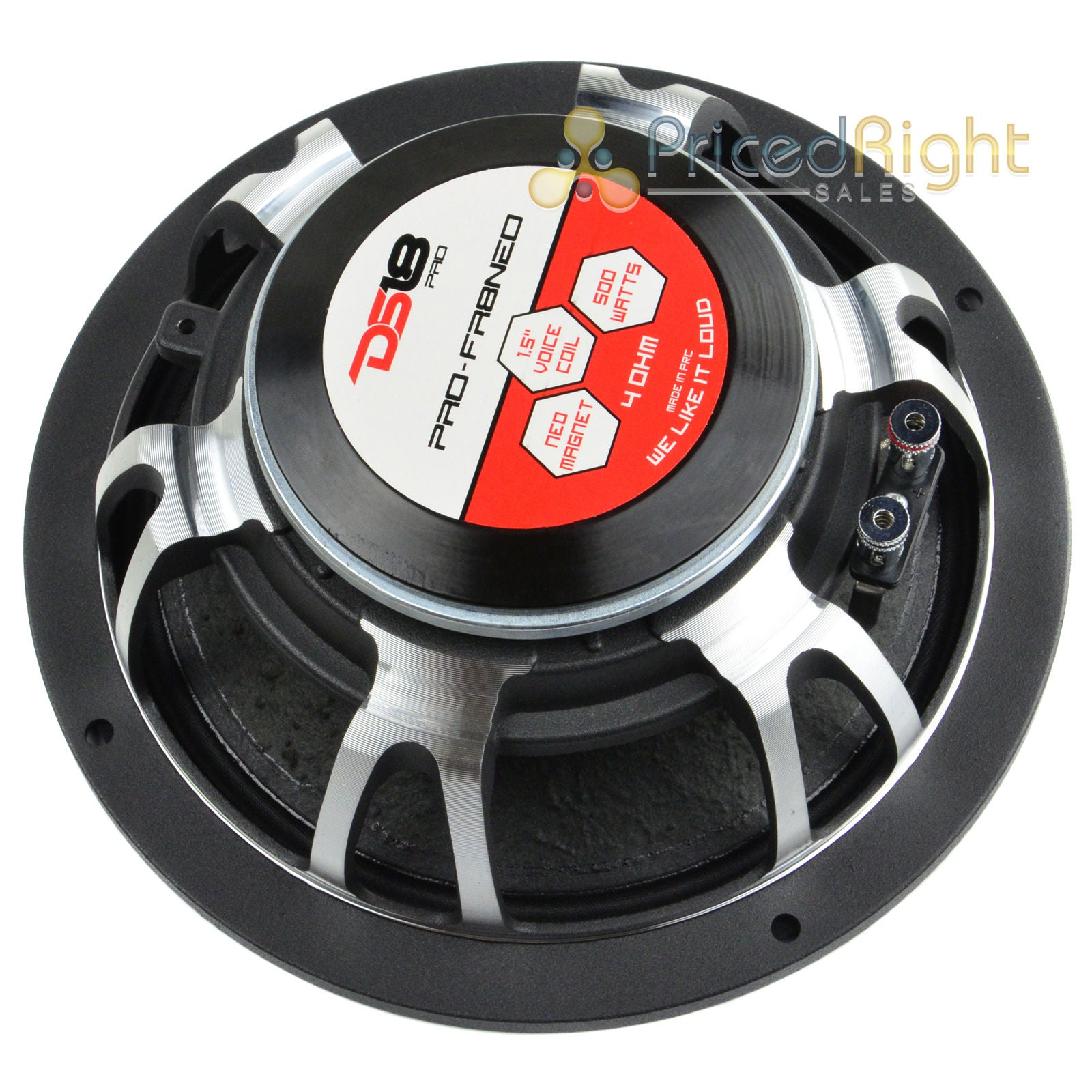 "2 DS18 8"" Inch Midrange Speaker 500 Watts Max Power PRO-FR8NEO Neodymium 4 Ohm"