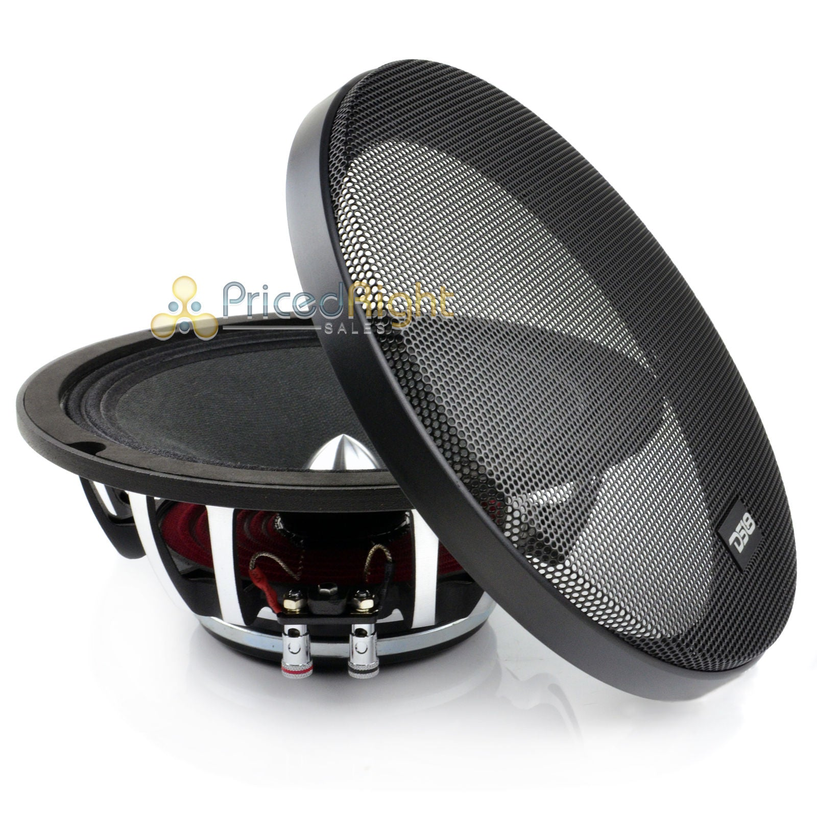 "DS18 8"" Inch Midrange Speaker 500 Watts Max Power PRO-FR8NEO Neodymium 4 Ohm"