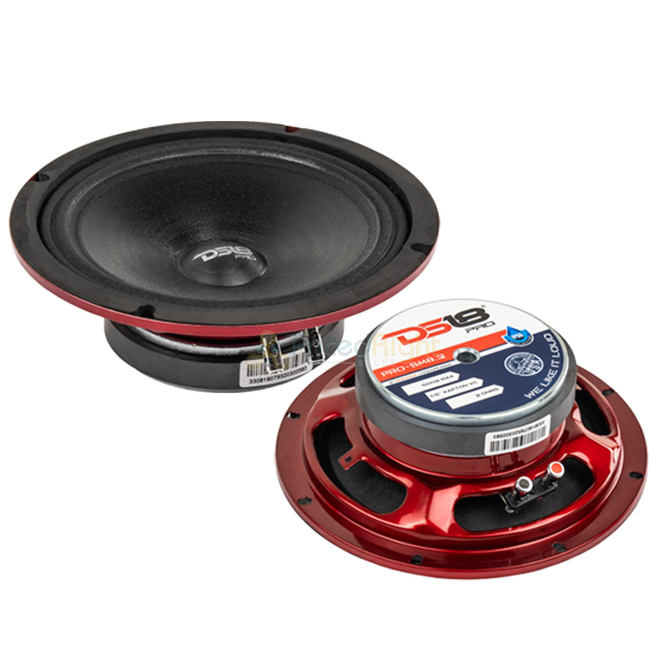 "DS18 PRO-SM8.2 8"" Motorcycle Midrange Speakers 500W Max 2 Ohm IP66 Rated 2 Pack"