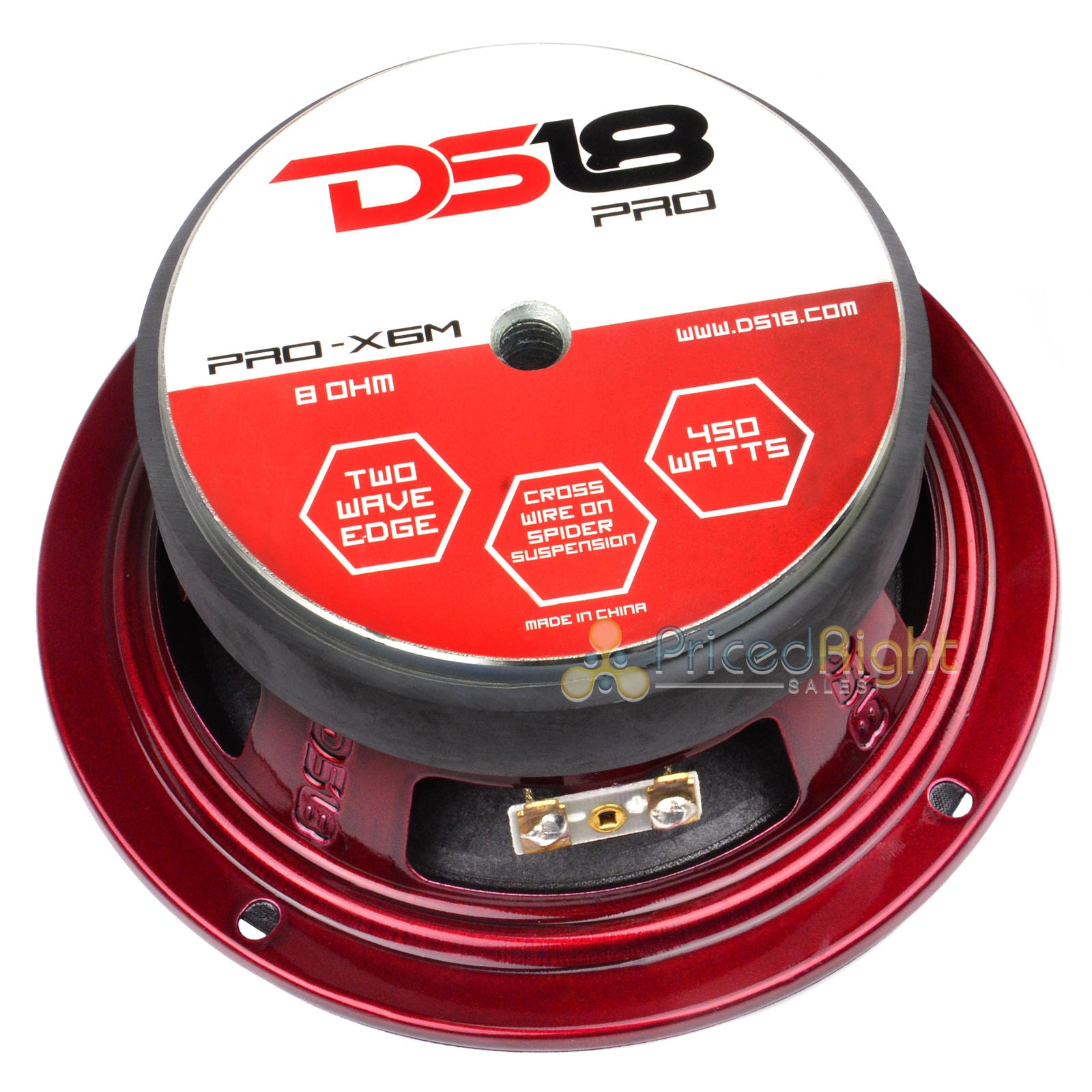 "4 DS18 PRO-X6M 6.5"" Midrange Speaker 450 Watt Max Mid Car Audio Loudspeakers"
