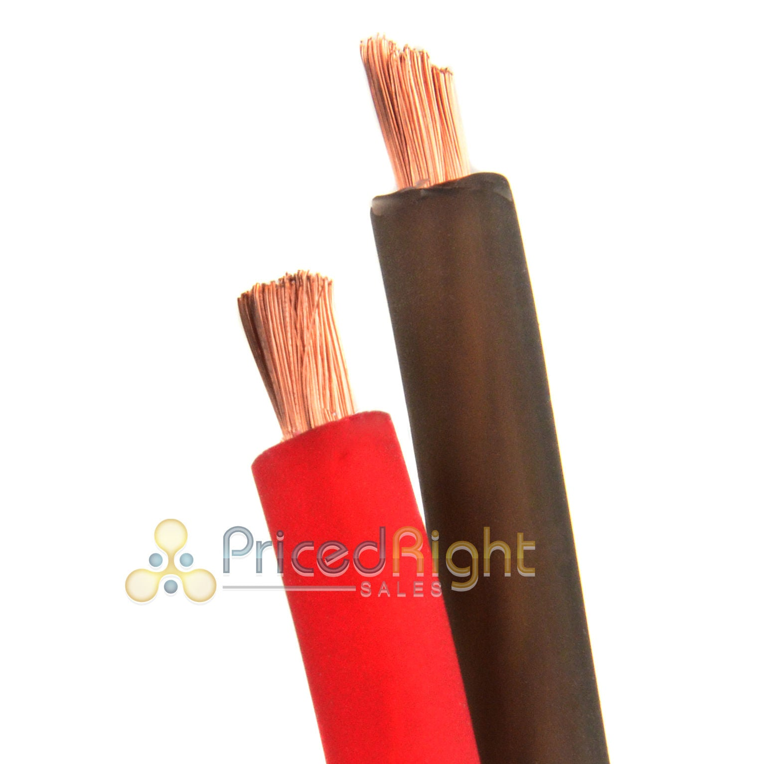 10' Super Flexible 8 Gauge Power & Ground Wire / Cable 5' Red 5 ft Black