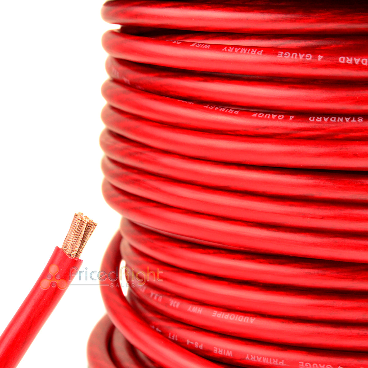 20 Ft 4 Gauge Red Power Wire Super Flexible Cable Car Audio Ground Stranded