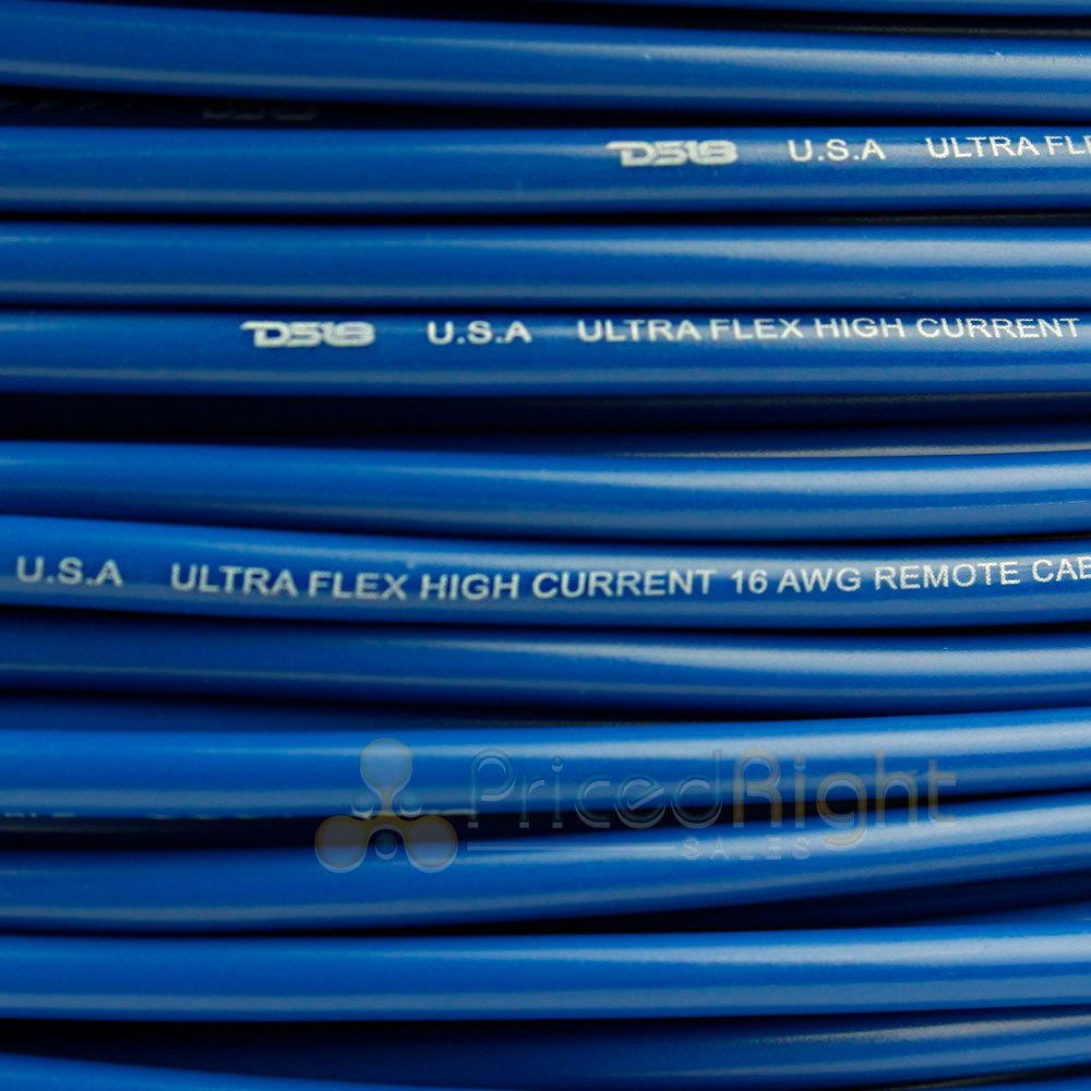 16 Gauge 100' Feet Blue Primary Remote Wire 12V Auto Wiring Cable AWG Ultra Flex