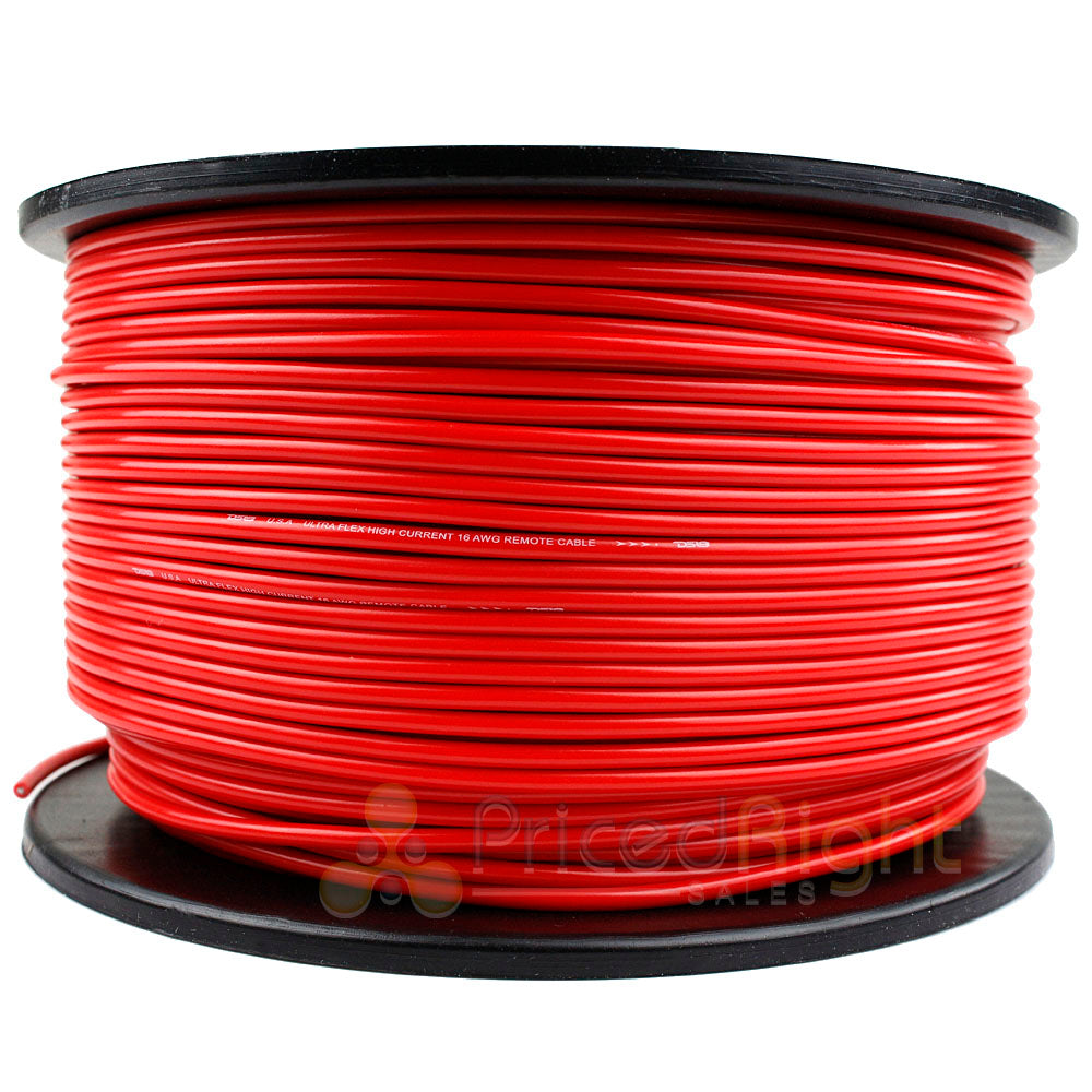500' Ft Spool 16 Gauge Remote Wire Red Primary 12V Wiring Cable AWG Flexible