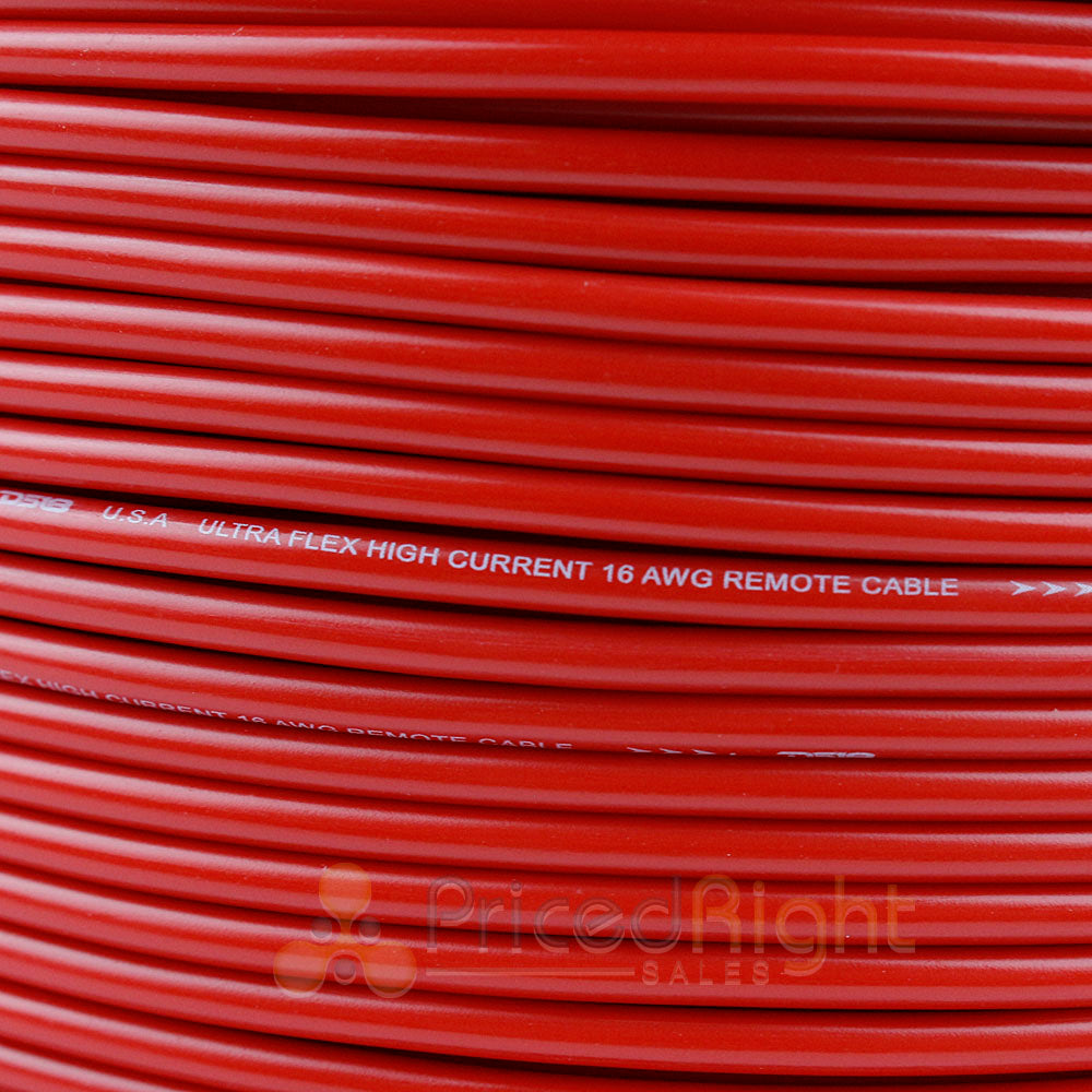 16 Gauge 50' Feet Red Primary Remote Wire 12V Auto Wiring Cable AWG Ultra Flex