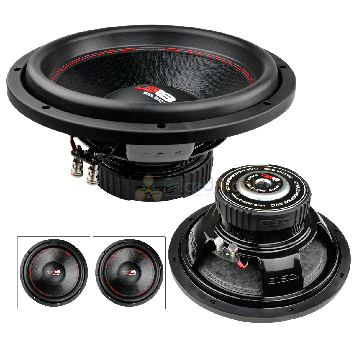 "2 DS18 SLC-12S 12"" Inch Subwoofers 500 Watts Max Power 4 Ohm Sub Select Series"