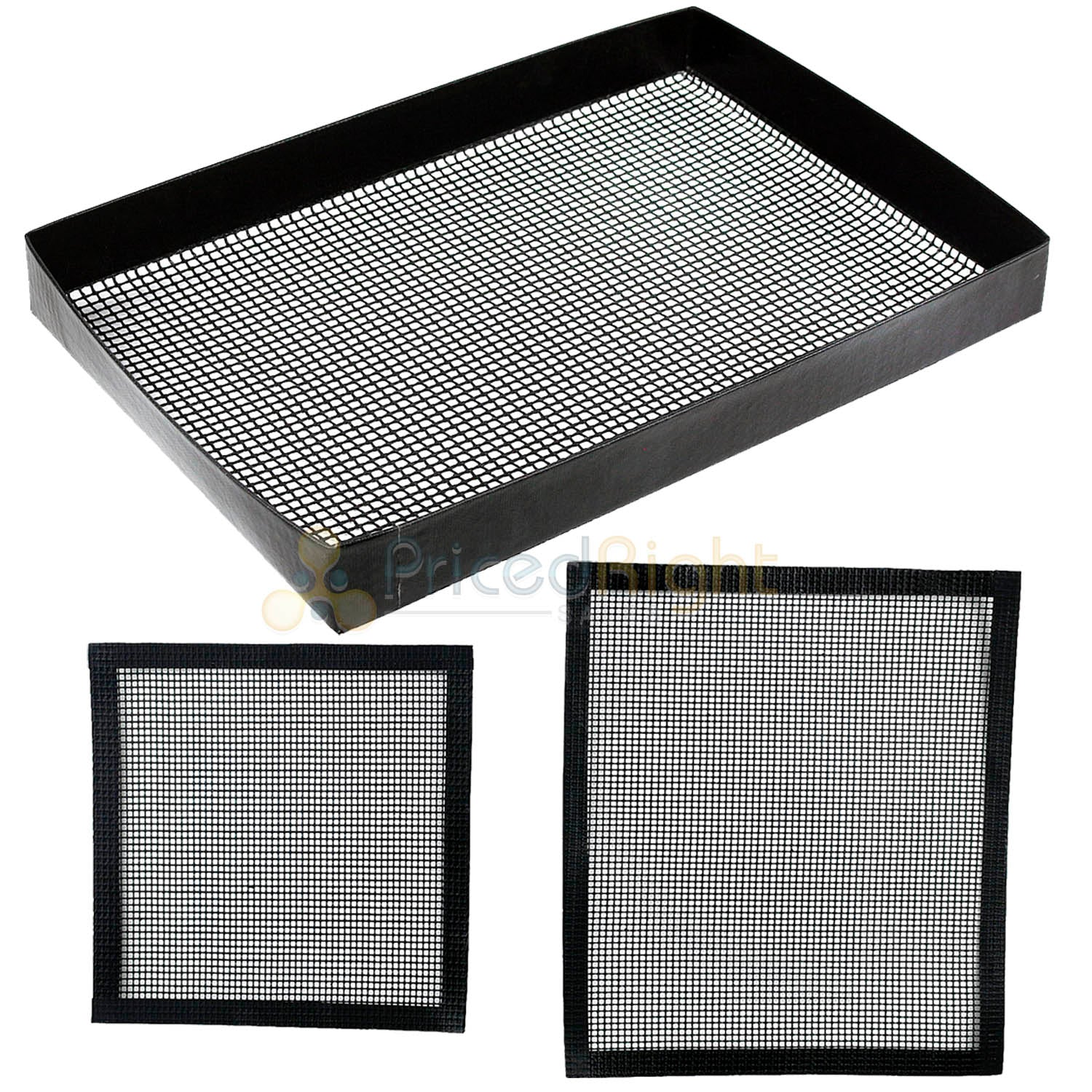 Heavy Duty Smoker & BBQ Grill Basket & Toppers Non-Stick PTFE Wide Mesh Design