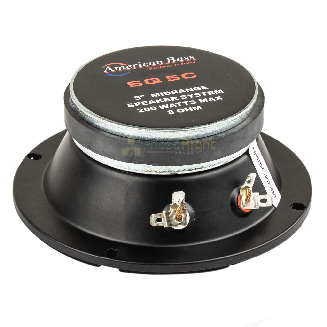 "2 Pack 5"" Midrange Speaker 8 Ohm 200W Max Power Car Audio American Bass SQ-5C"