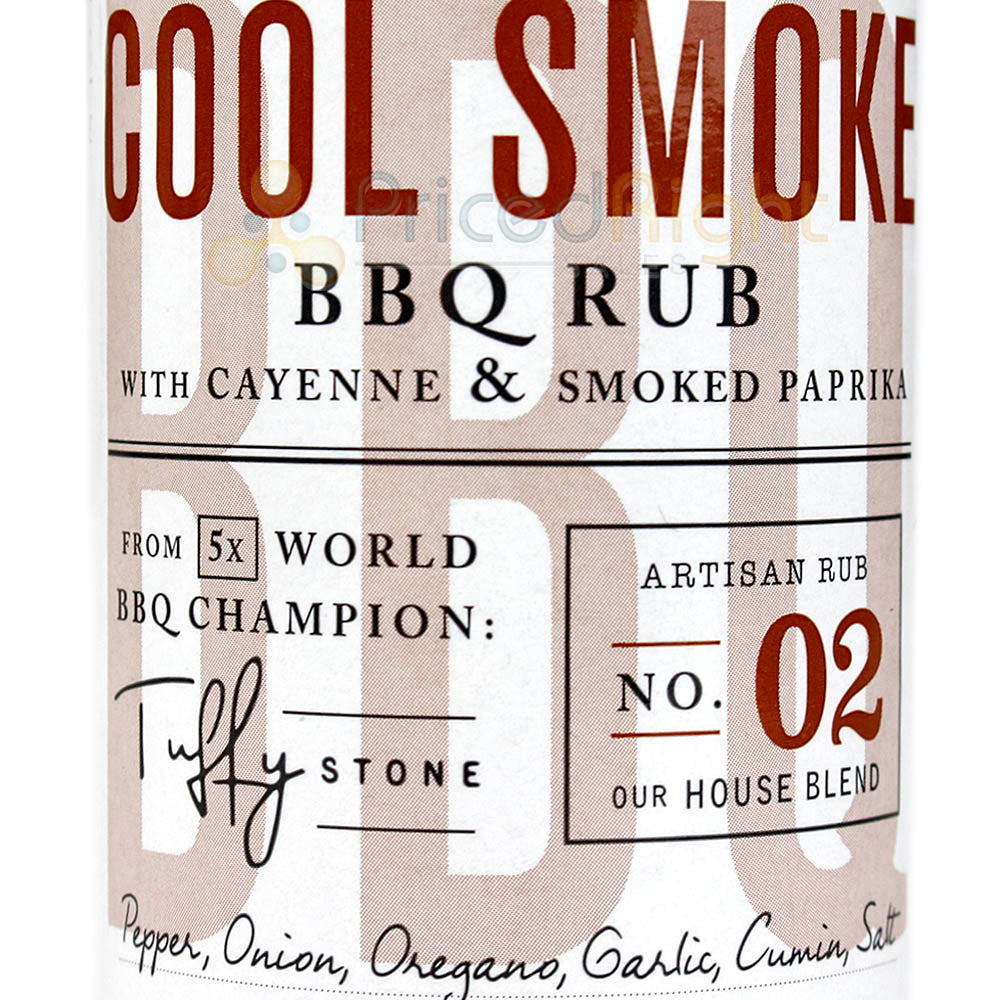 Cool Smoke BBQ Rub Pepper Onion Oregano 6 Ounce Bottle Competition Rated