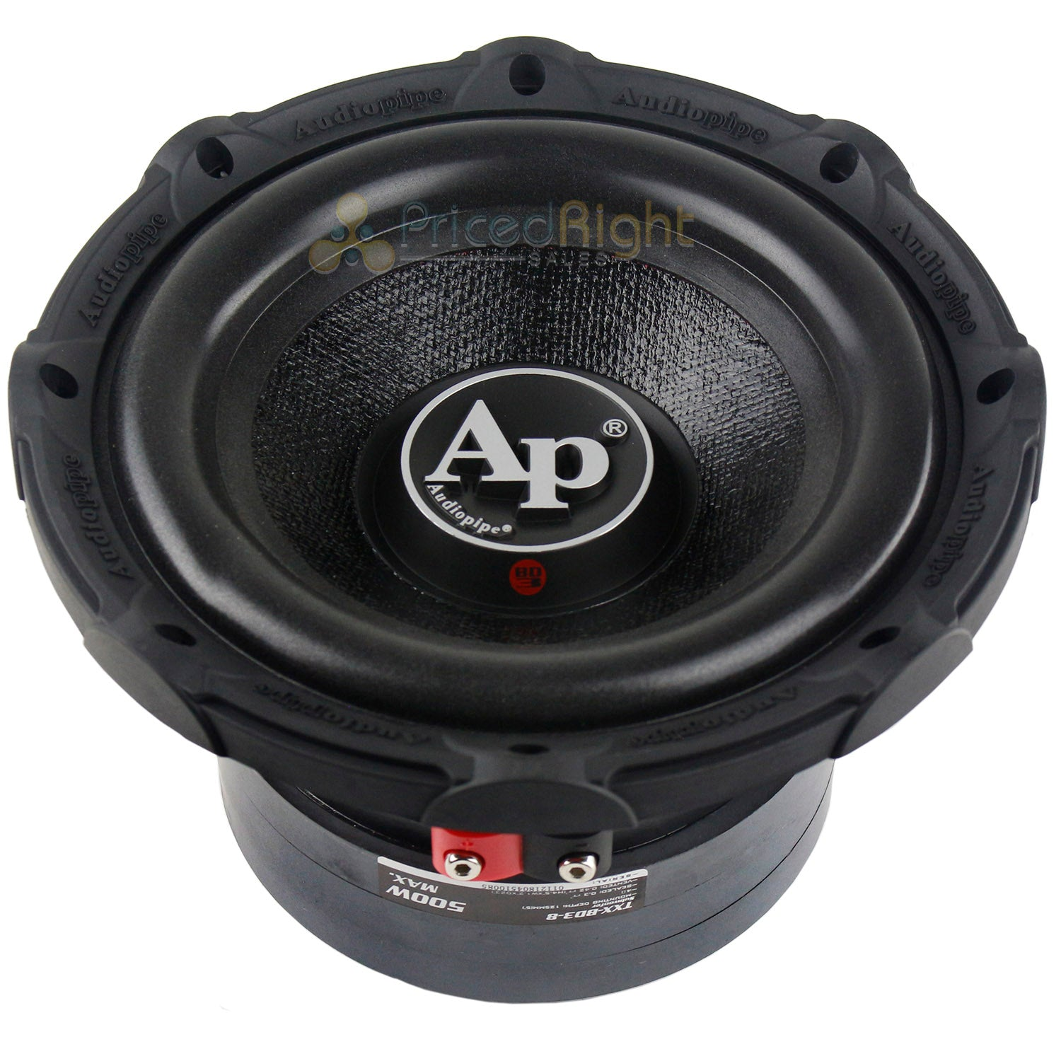 "Audiopipe 8"" Subwoofer 500 Watts Max Single 4 Ohm Triple Stack Series TXX-BDC3-8"