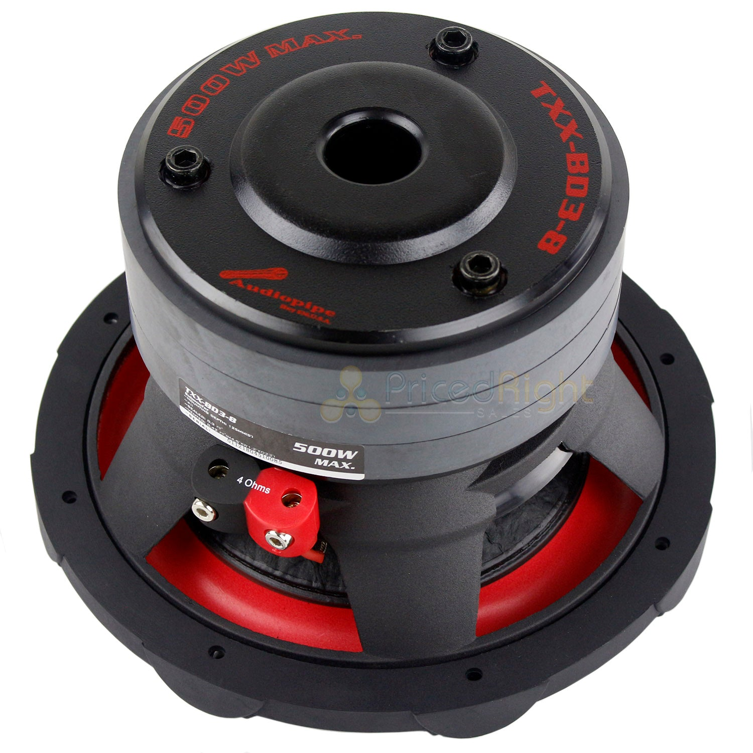 "2 Pack Audiopipe 8"" Subwoofers 500 Watts Max 4 Ohm SVC Triple Stack TXX-BDC3-8"