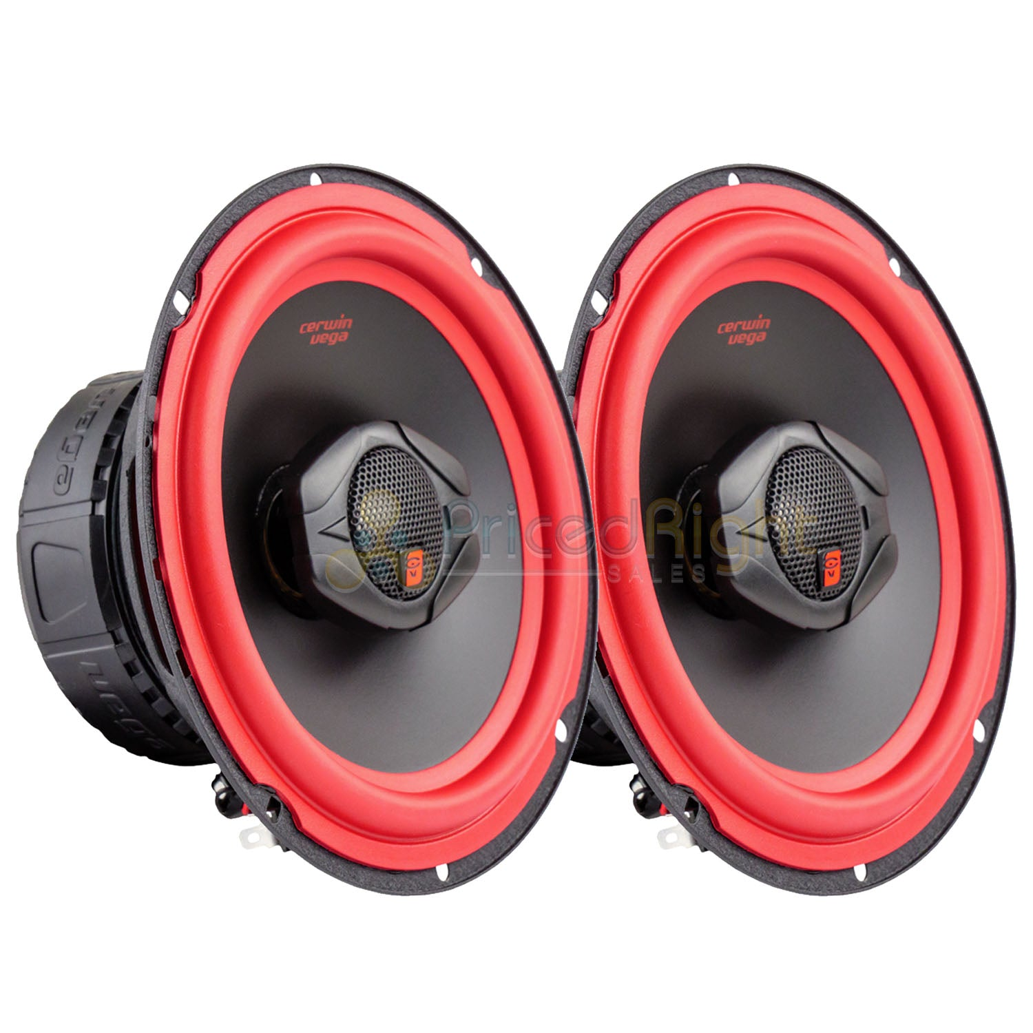 "Cerwin Vega V465 6.5"" 2 Way Coaxial Car Speakers Titanium Dome Tweeter Pair"