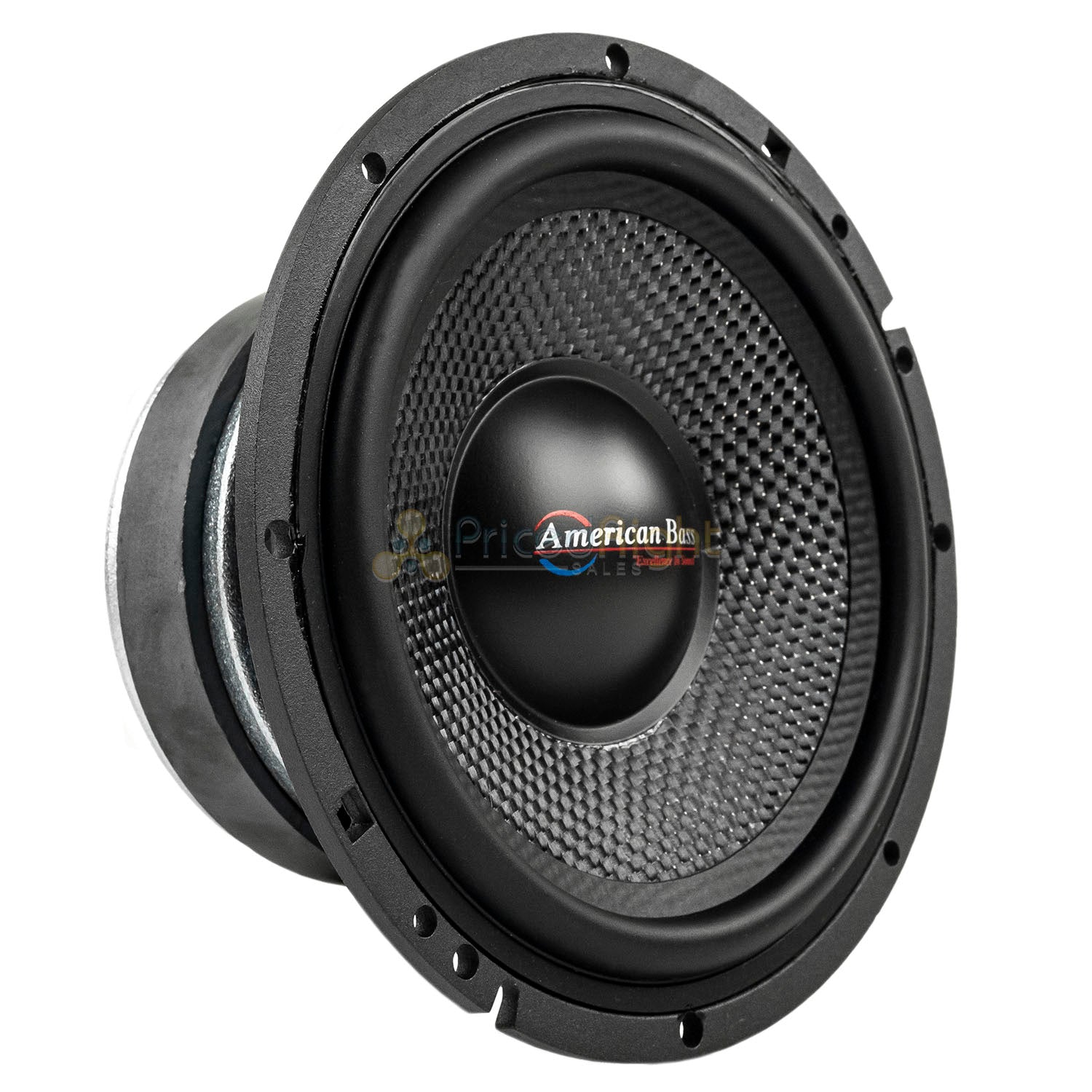 "American Bass VFL-65MB 6.5"" Midbass Car Speakers 4 Ohm 350W Max Open Back 2 Pack"