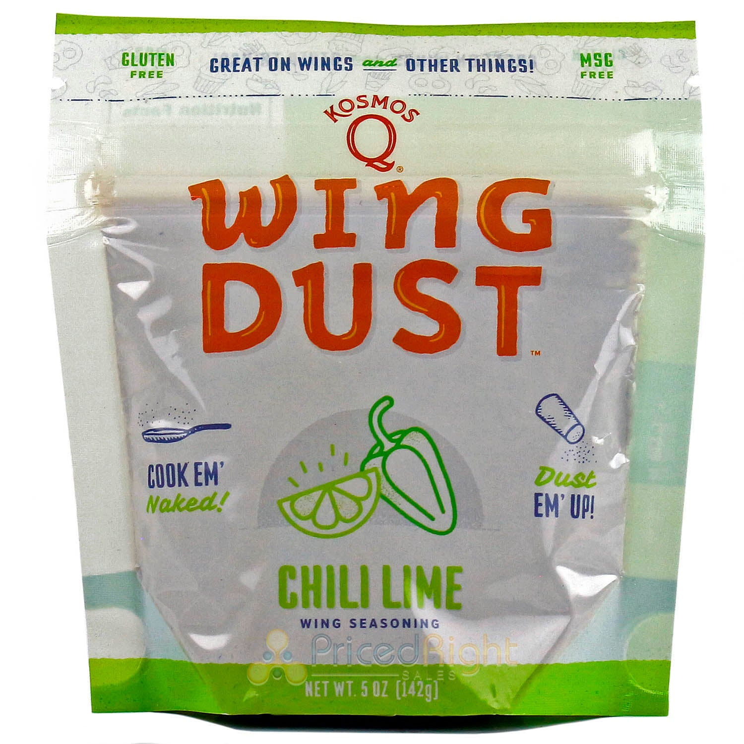 Kosmos Q Wing Dust Chili Lime Dry Rub Seasoning Competition Rated Pit Master