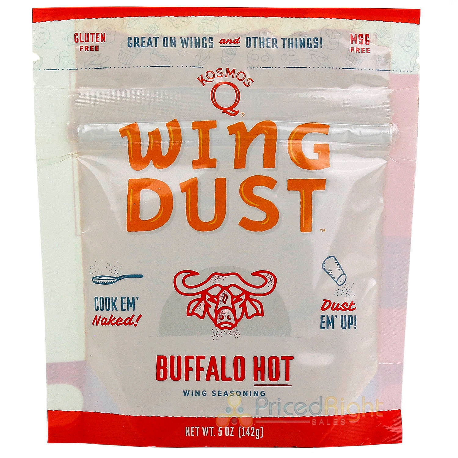 Kosmos Q Wing Dust Buffalo Hot Wing Dry Rub Seasoning Competition Pit Master