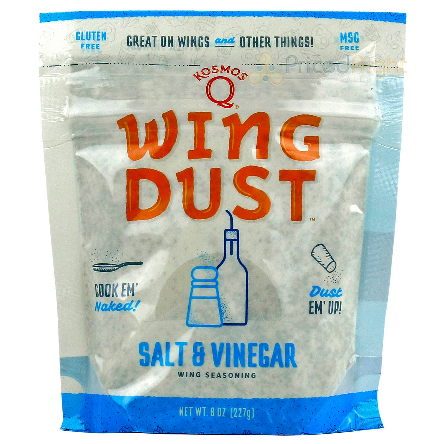 Kosmos Q Wing Dust Salt & Vinegar Dry Rub Seasoning Competition Rated Pit Master