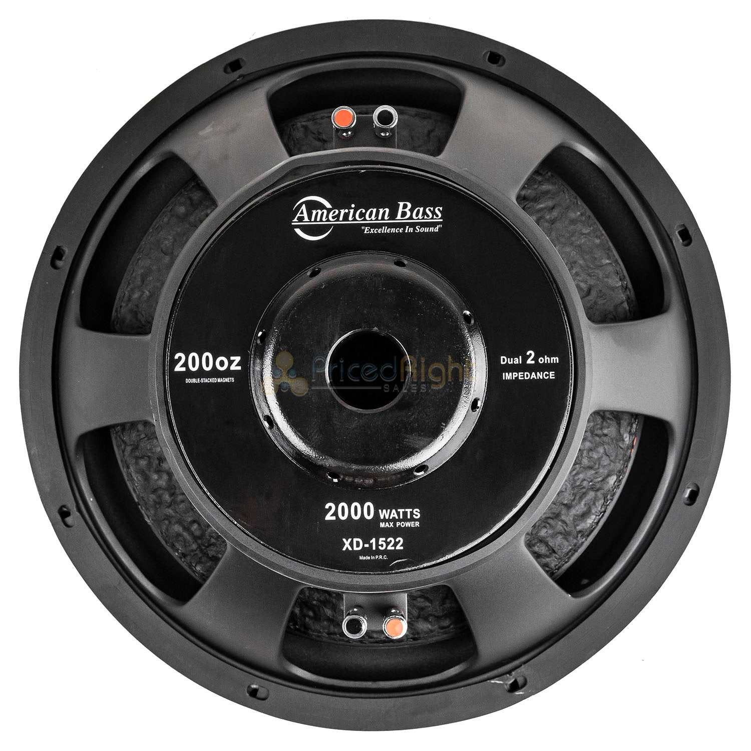 "American Bass XD-1522 15"" Subwoofers Dual 2 Ohm 2000 Watts Max Car Audio 2 Pack"
