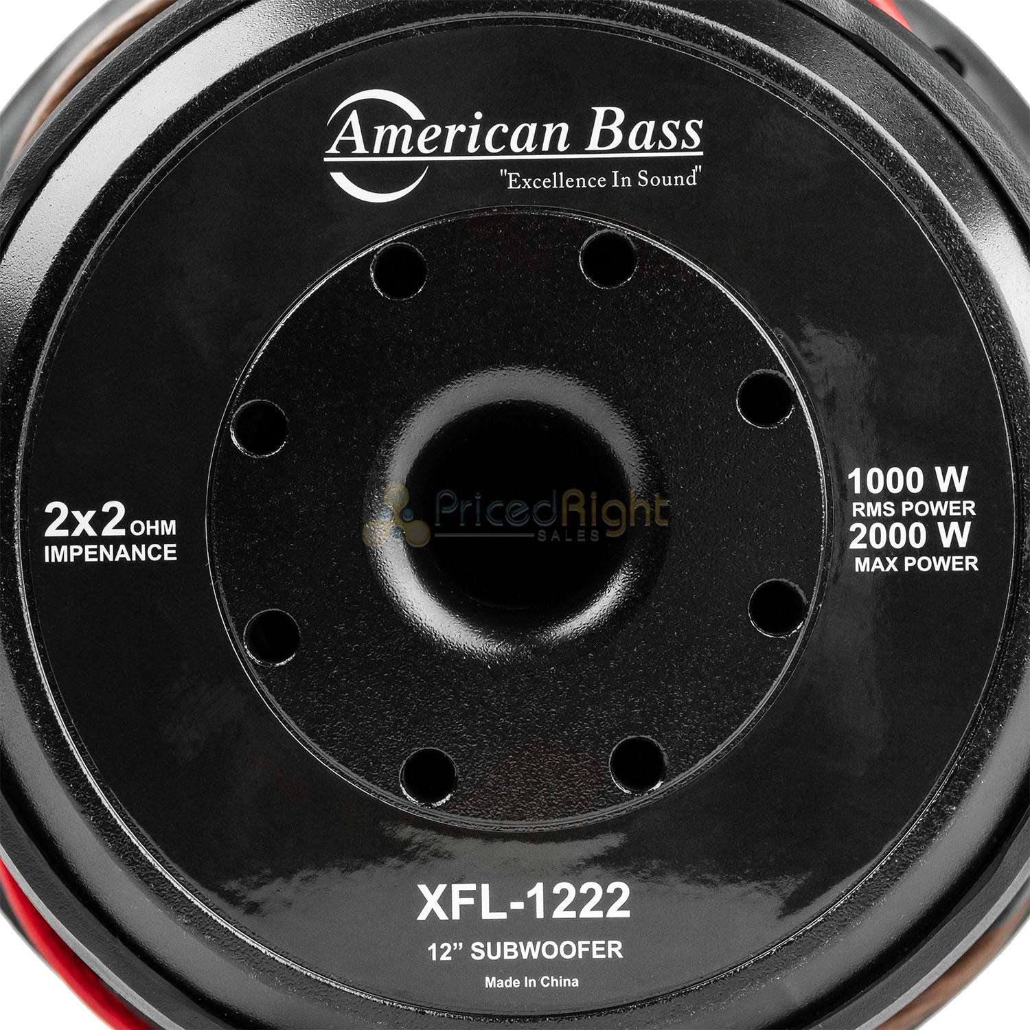"American Bass XFL-1222 12"" Subwoofers Dual 2 Ohm 2000 Watts Max Car Audio 2 Pack"